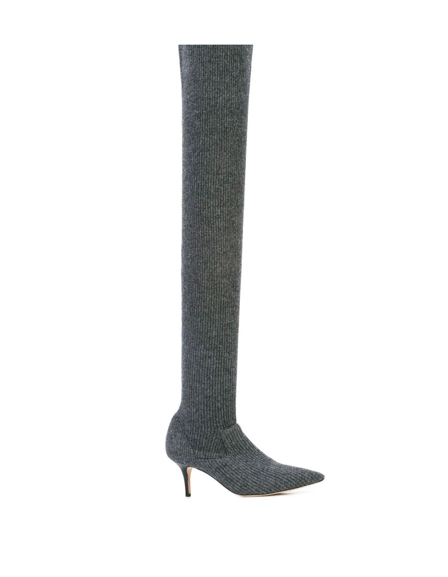 MONSE Thigh High Knitted Sock Boot Front View