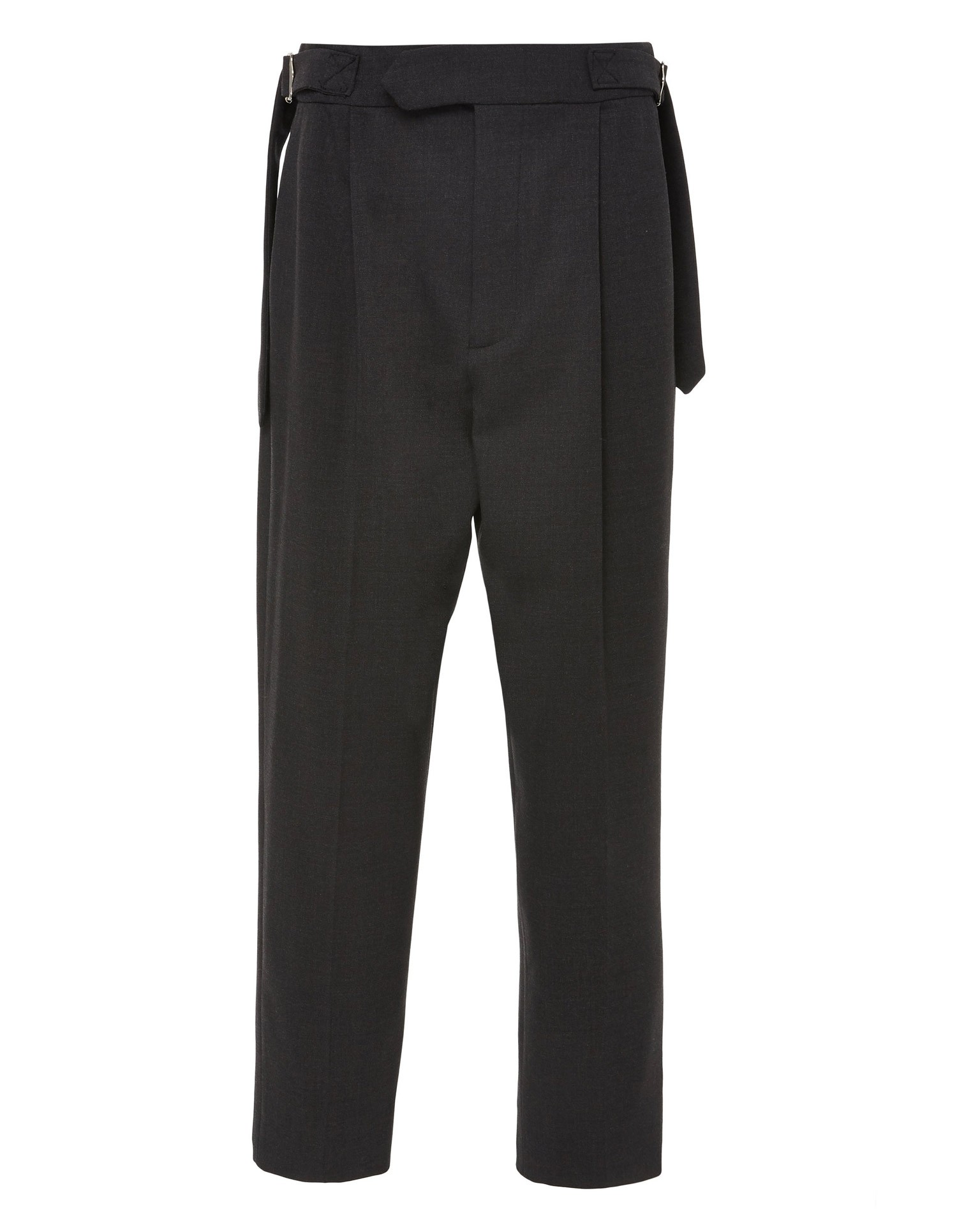Monse Womens Charcoal Pleated Trouser with Belt