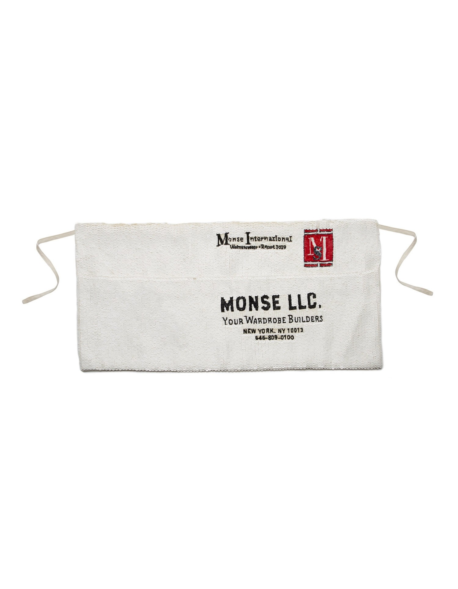 MONSE Sequin Apron Ivory