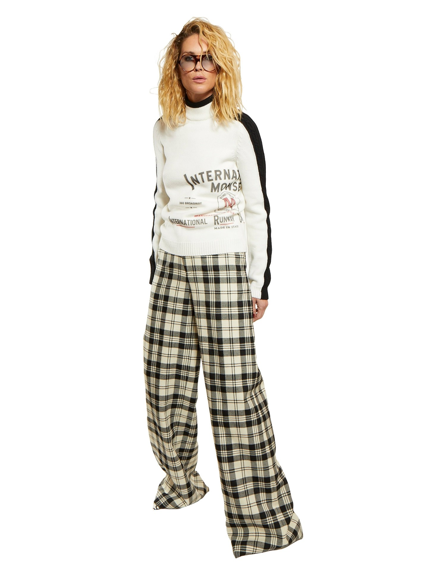 Wide Leg Crooked Trouser