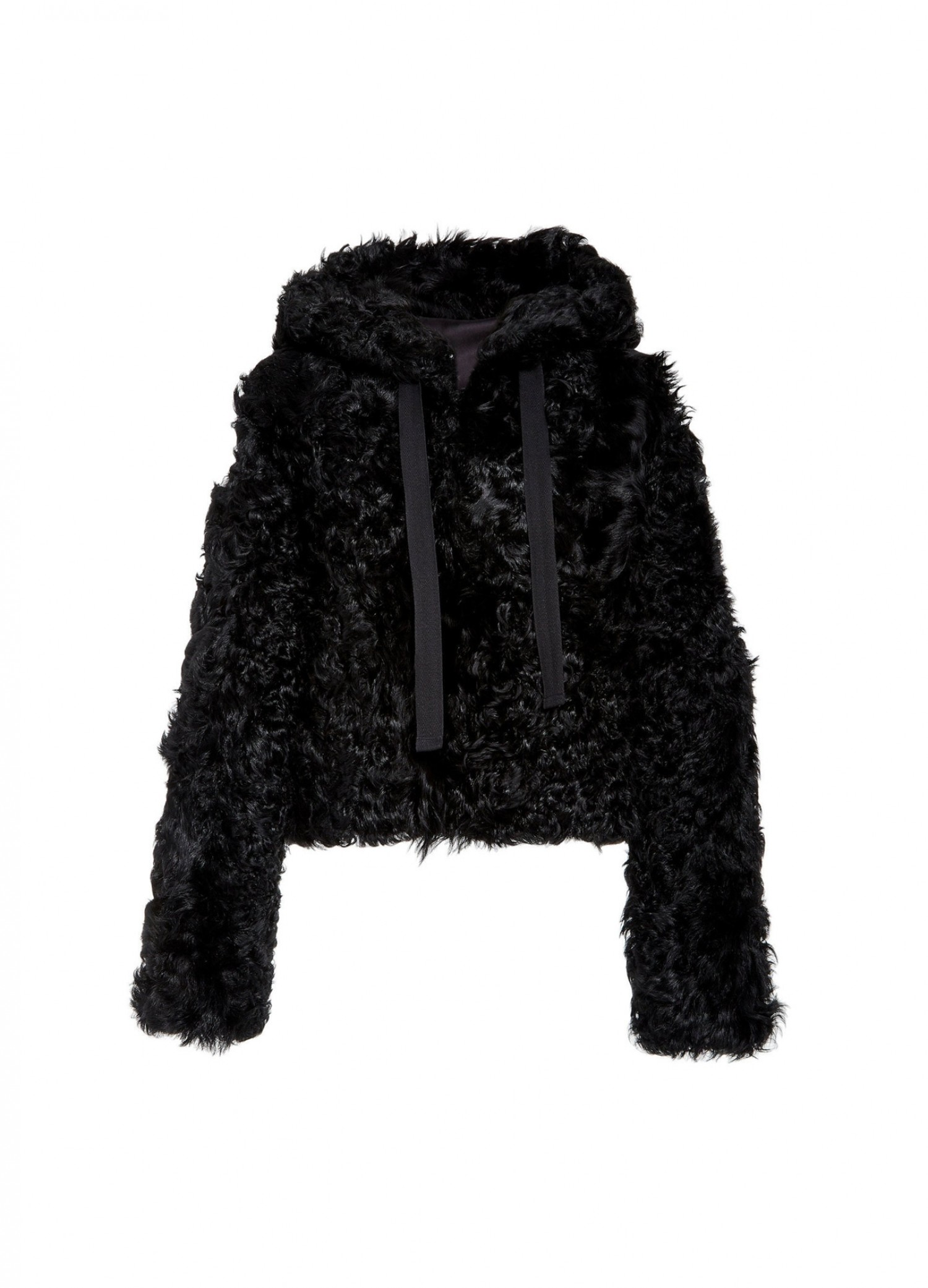 MONSE Cropped Shearling Hoodie Flat Front
