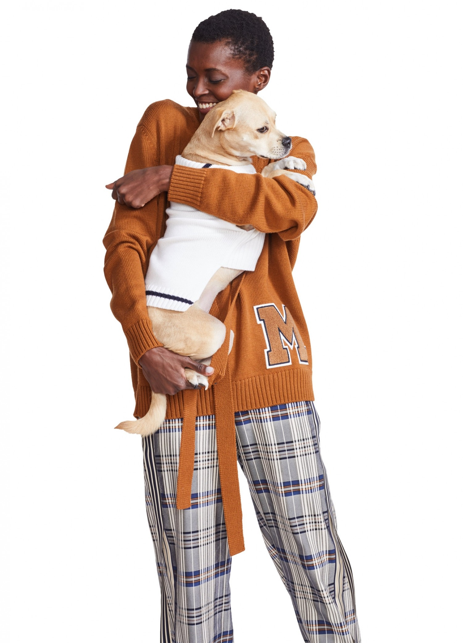 MONSE Dog Sailor Sweater on Puppy with Model