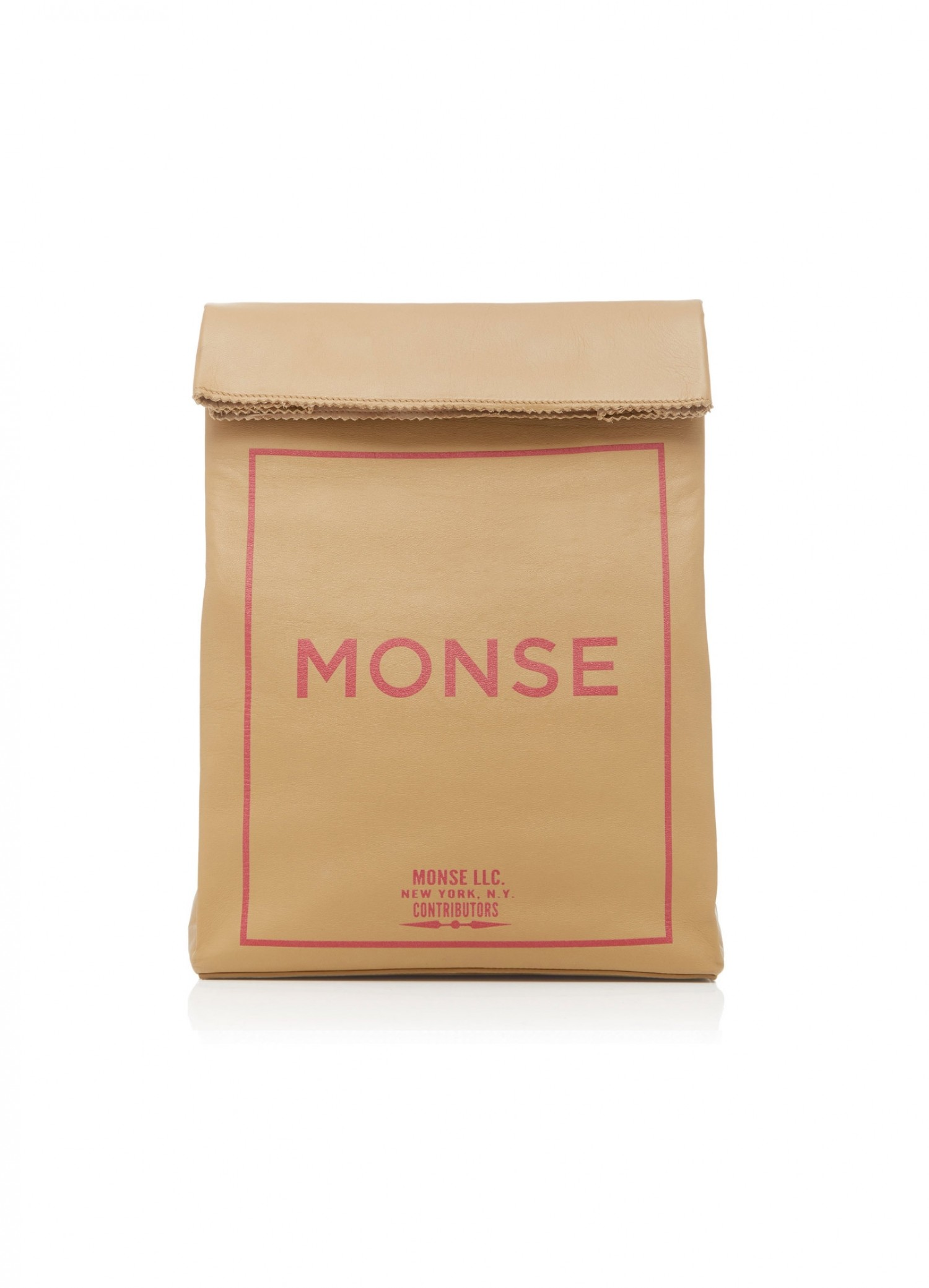 MONSE Leather Paper Bag