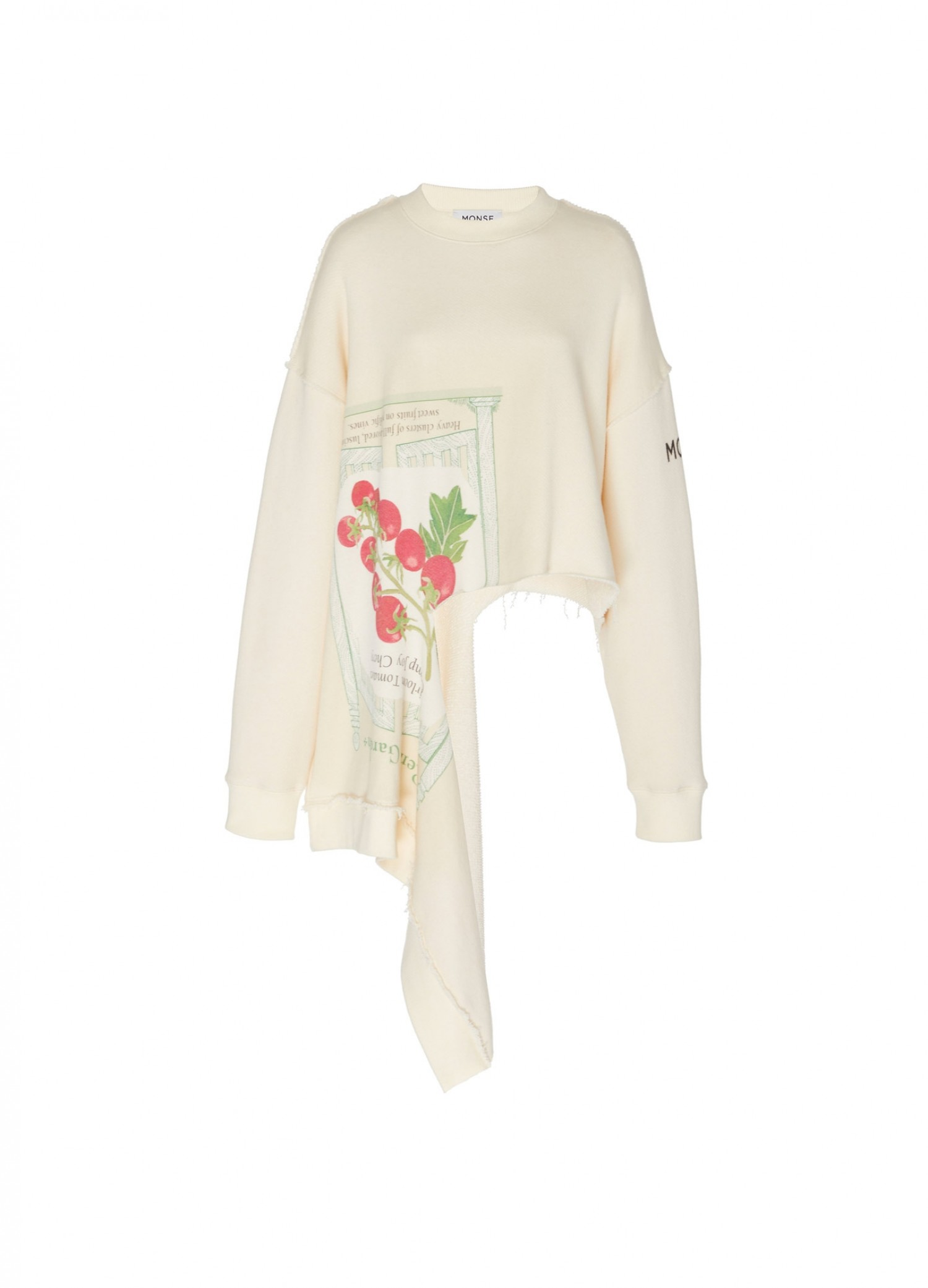 MONSE Seed Packet Torn Sweatshirt Flat Front