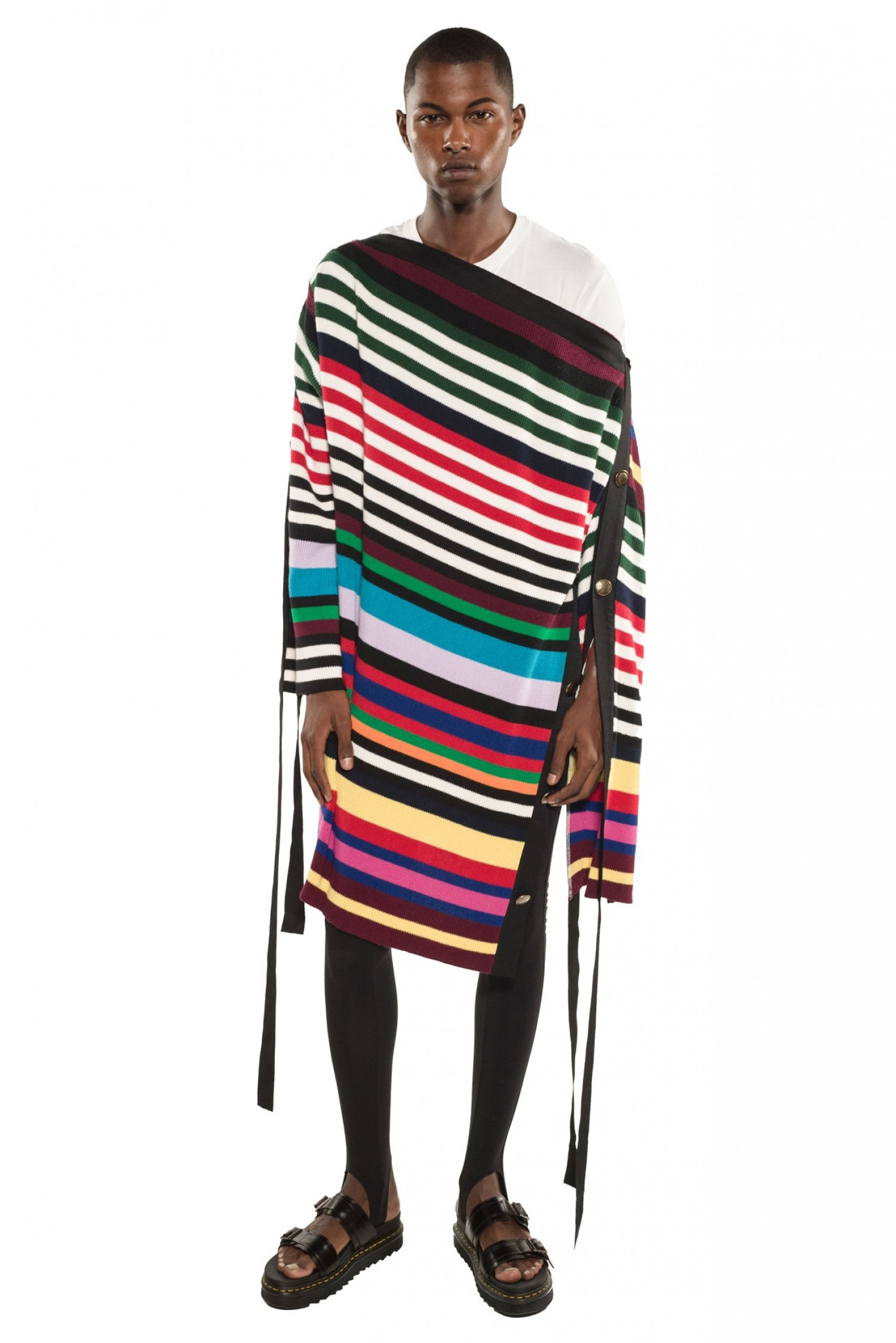 Monse Unisex Two-Tone Grosgrain Pullover on Model Front