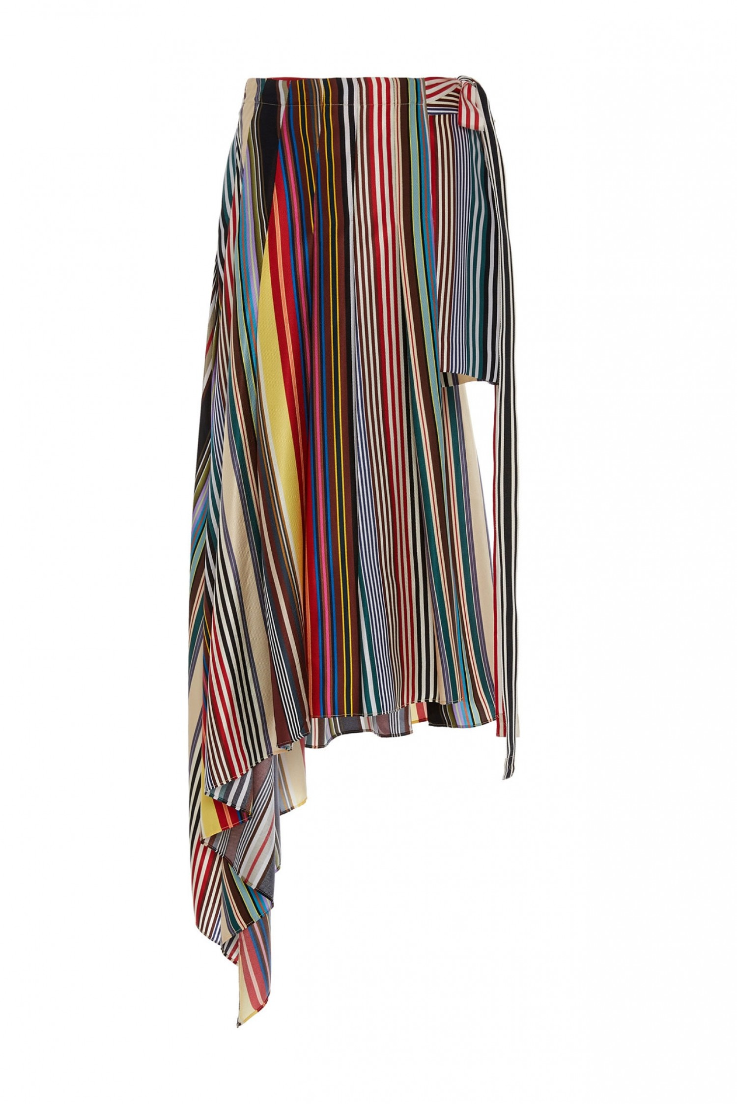 Monse Women's Pleated Wrap Shorts in Multi Colored Print Front