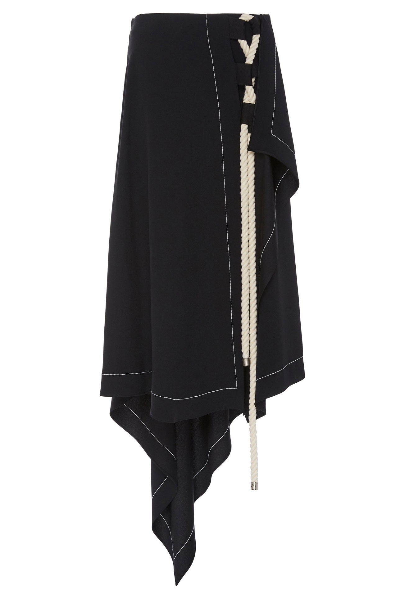 9eb231bef ... Monse Womens Asymmetrical Wrap Skirt with Interlacing Rope Front ...