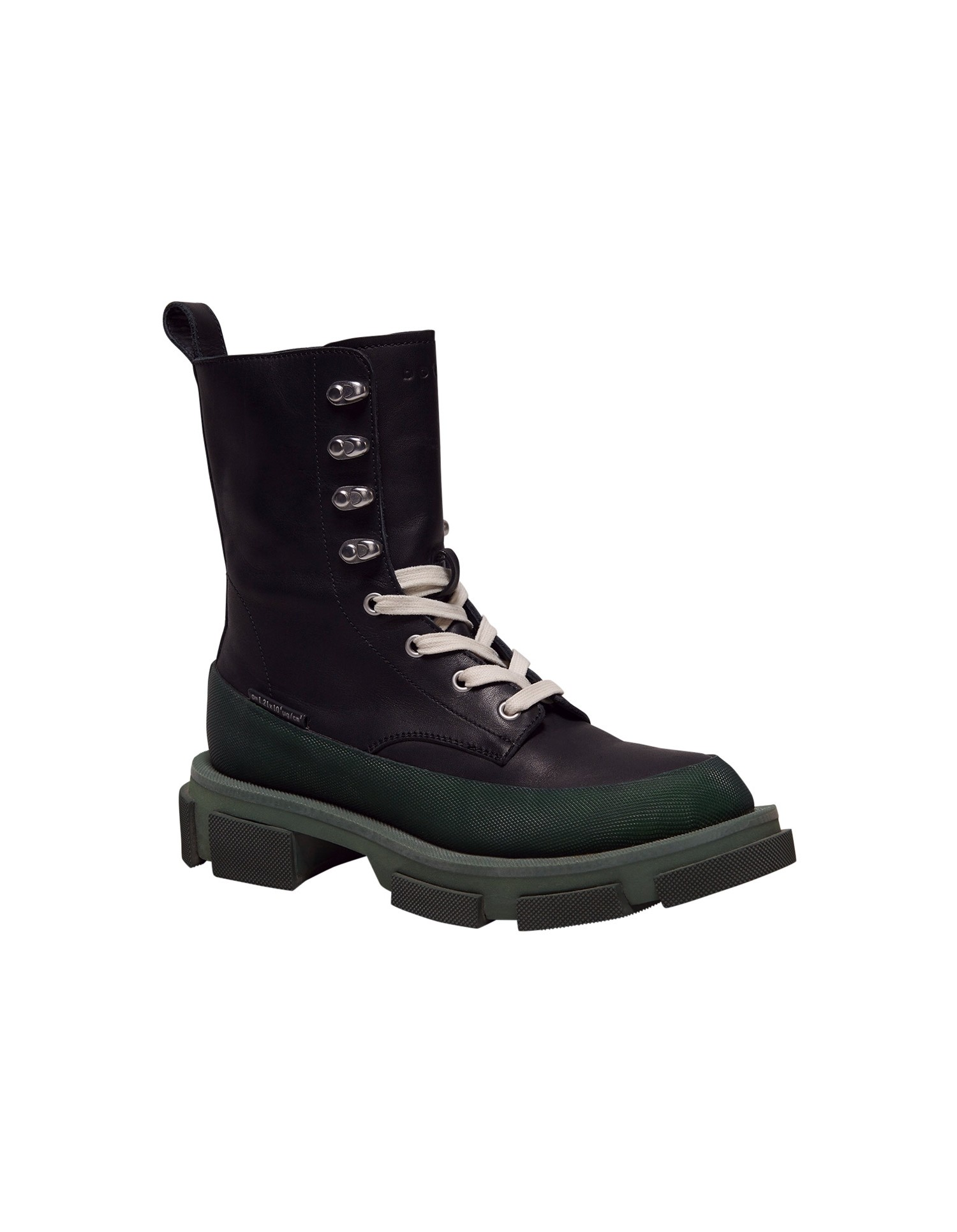 Both x MONSE Gao High Boots in Black and Olive Right Side Angle View