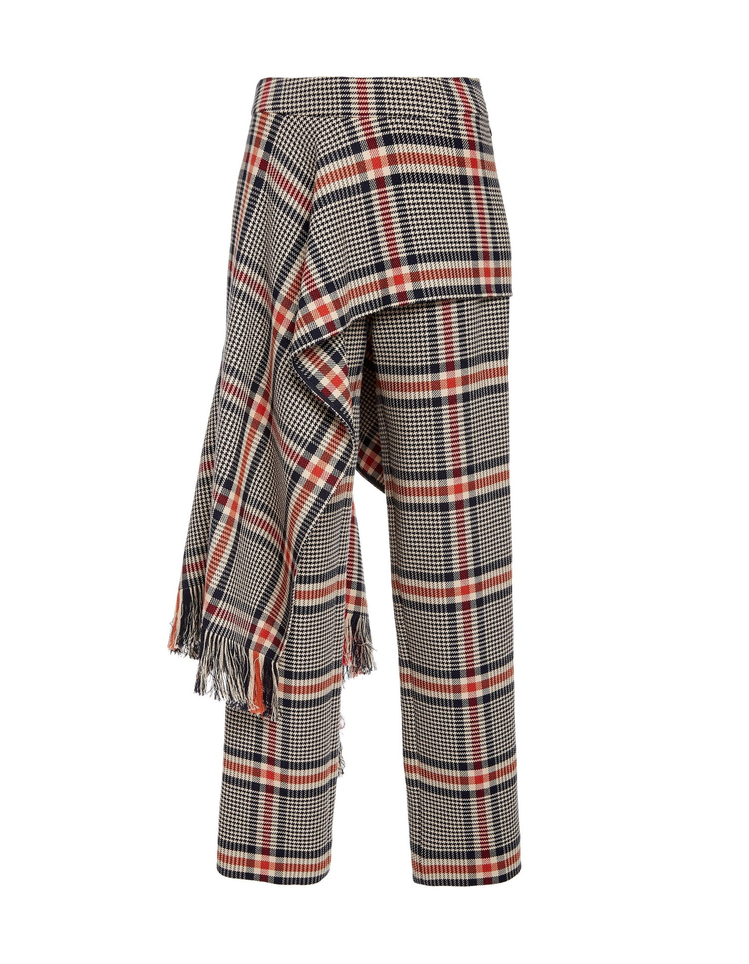 MONSE Apron Plaid Pant on Model Front View