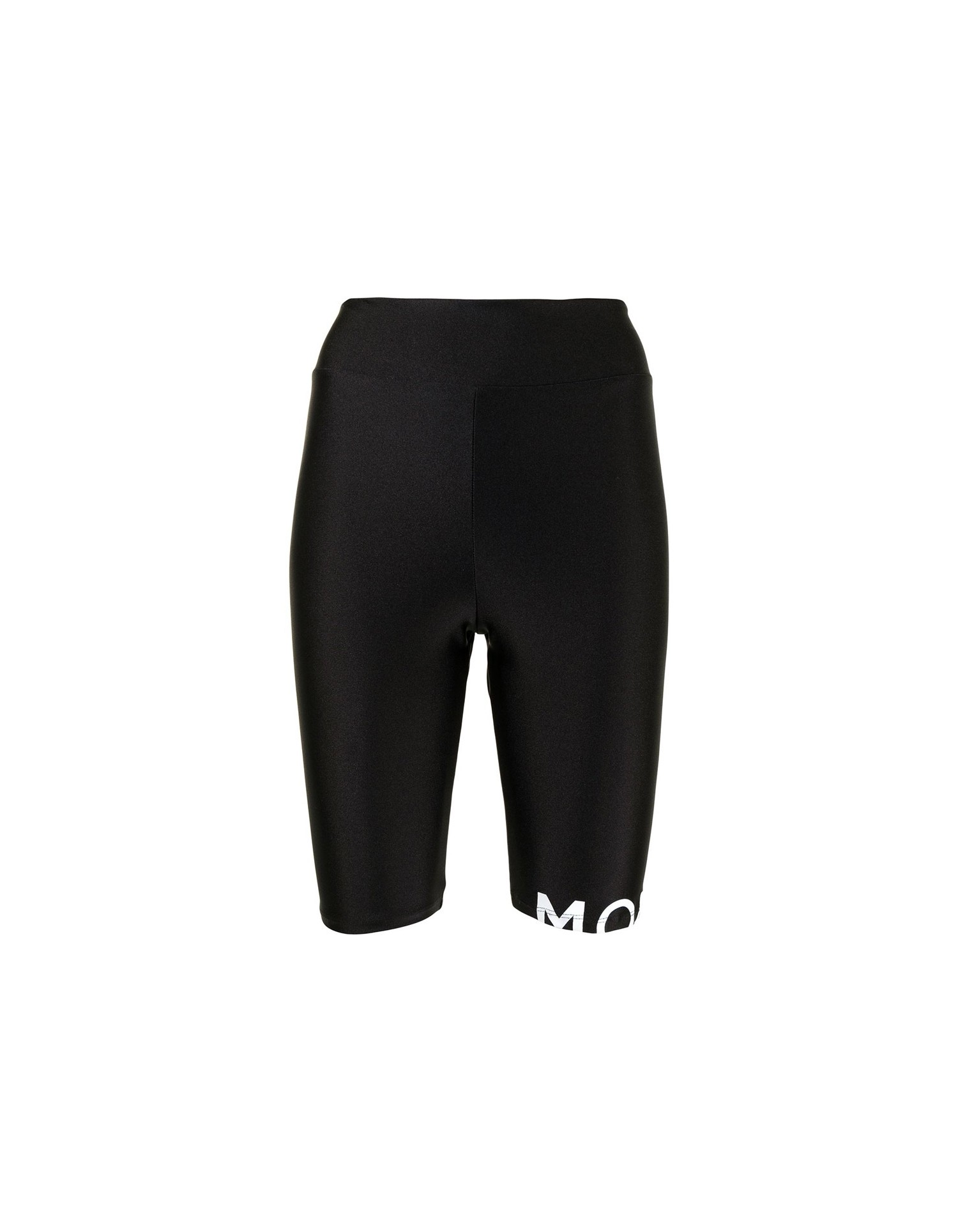 MONSE Bike Shorts in Black Flat Front