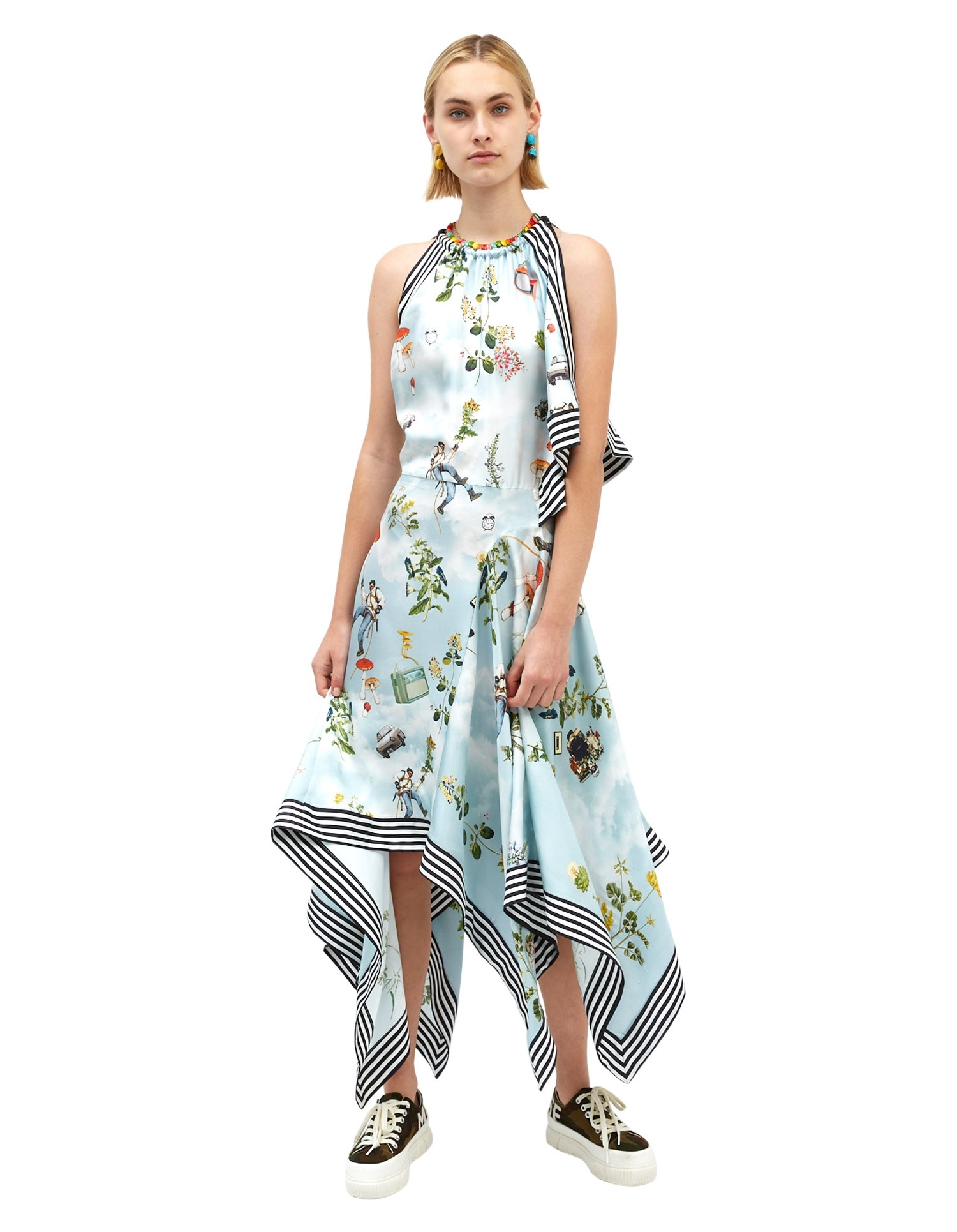 MONSE Climbing High Scarf Dress on Model Front View