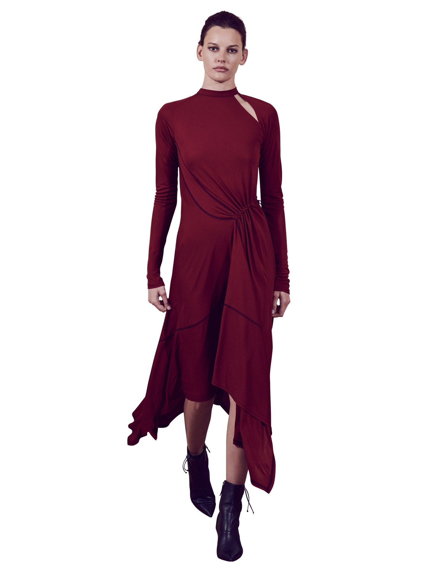MONSE Deconstructed Cycling Dress on Model Front View