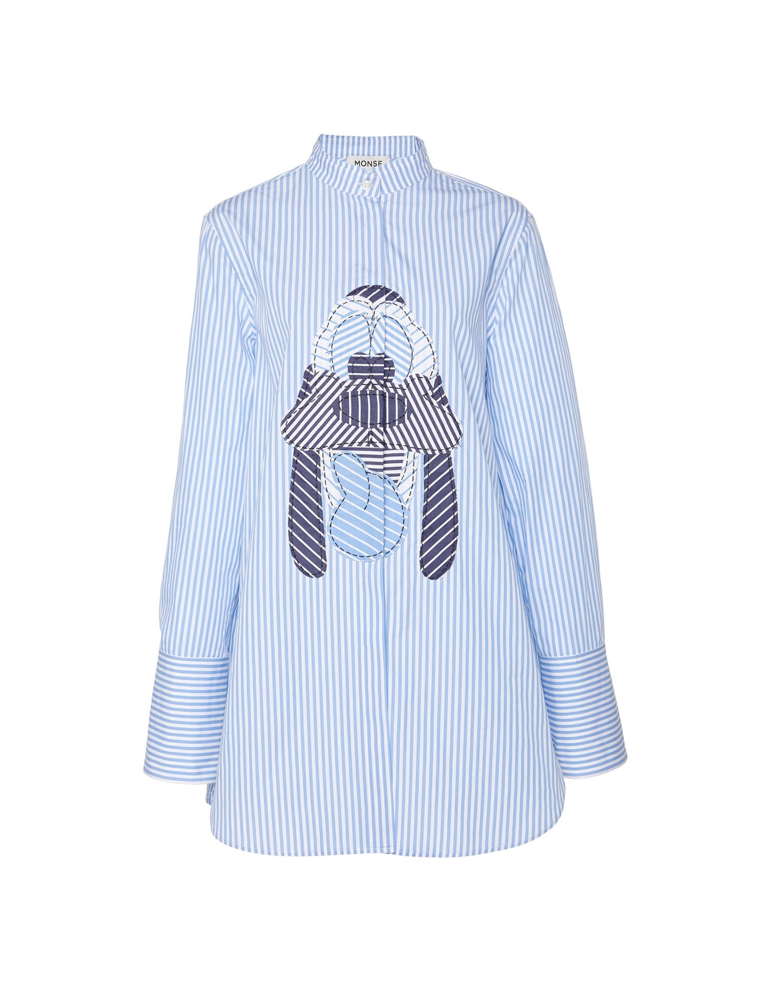 MONSE Disney Pluto Striped Shirt on Model Detail