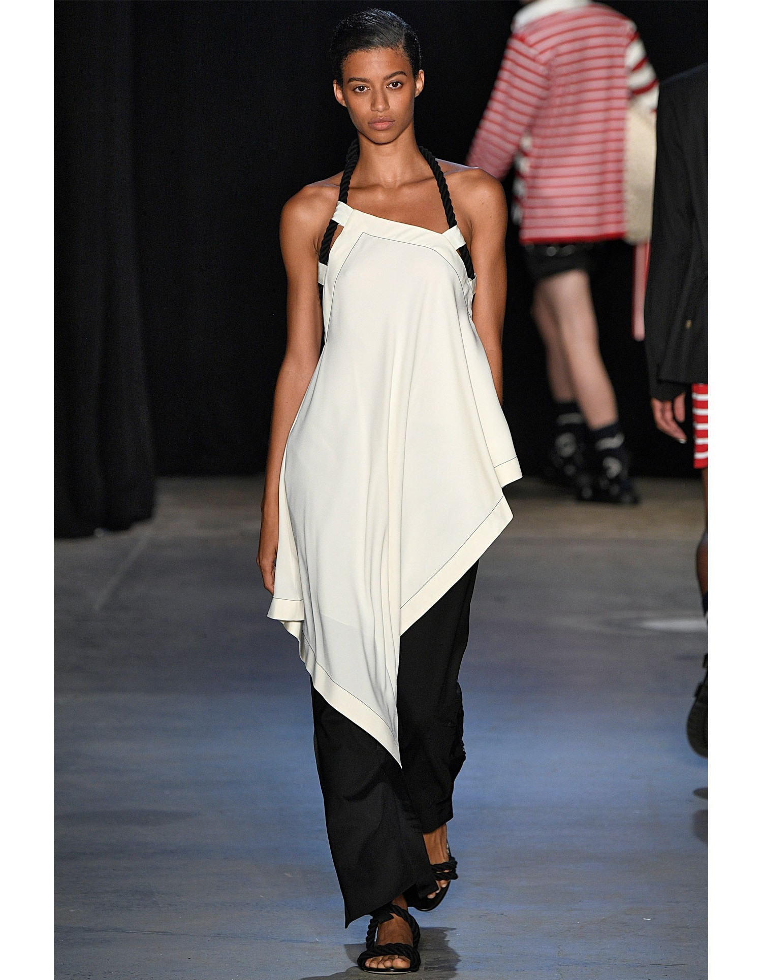 MONSE Grosgrain Tux Trouser on Model Runway Look