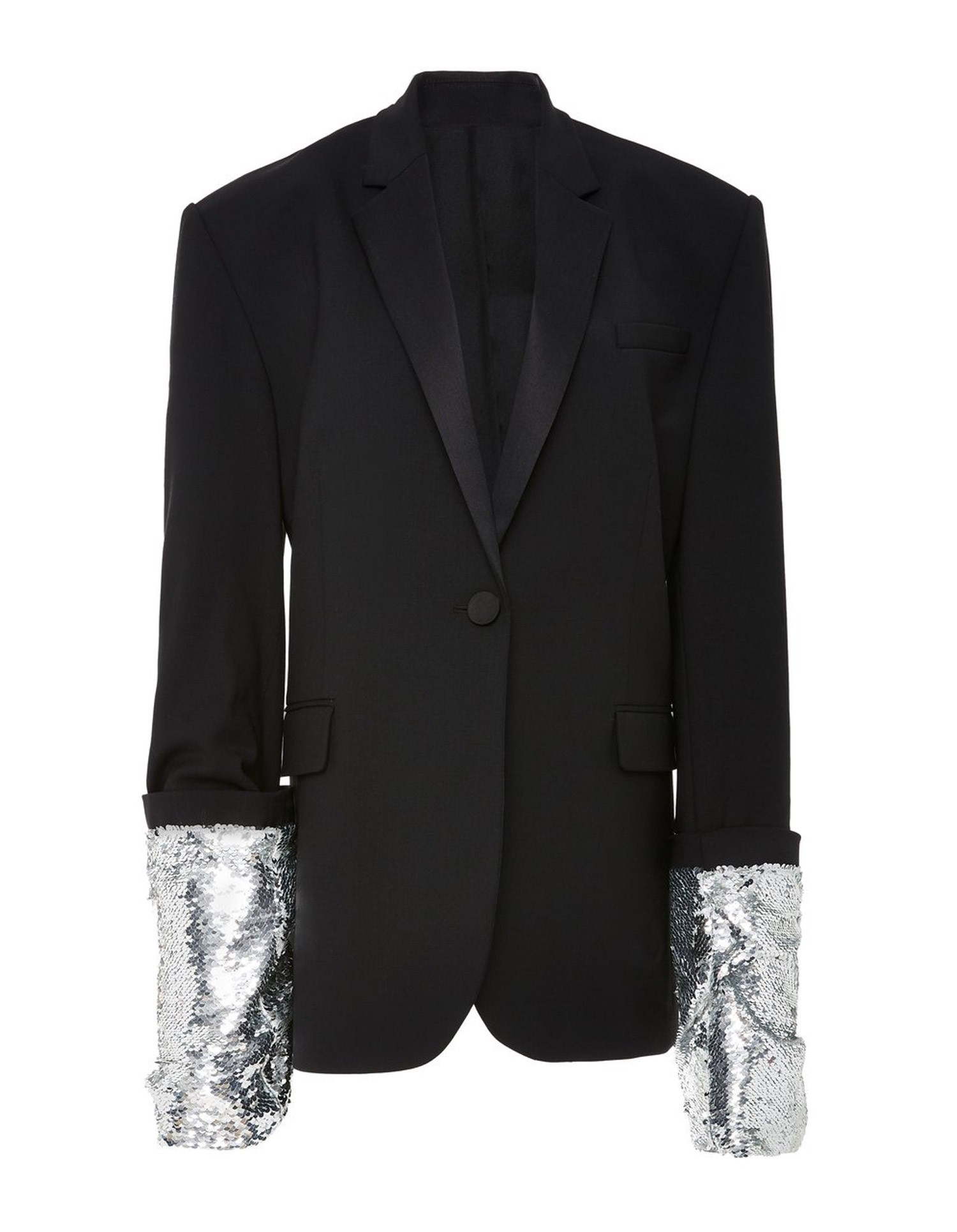 MONSE Large Sequin Cuff Jacket on Model Lookbook View
