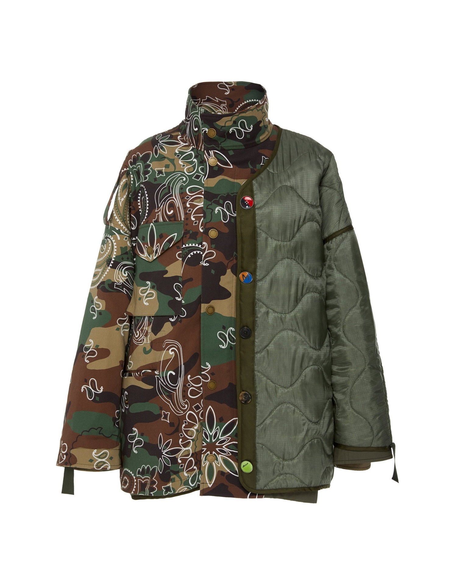 MONSE Oversized Double Camo Jacket on Model Front View
