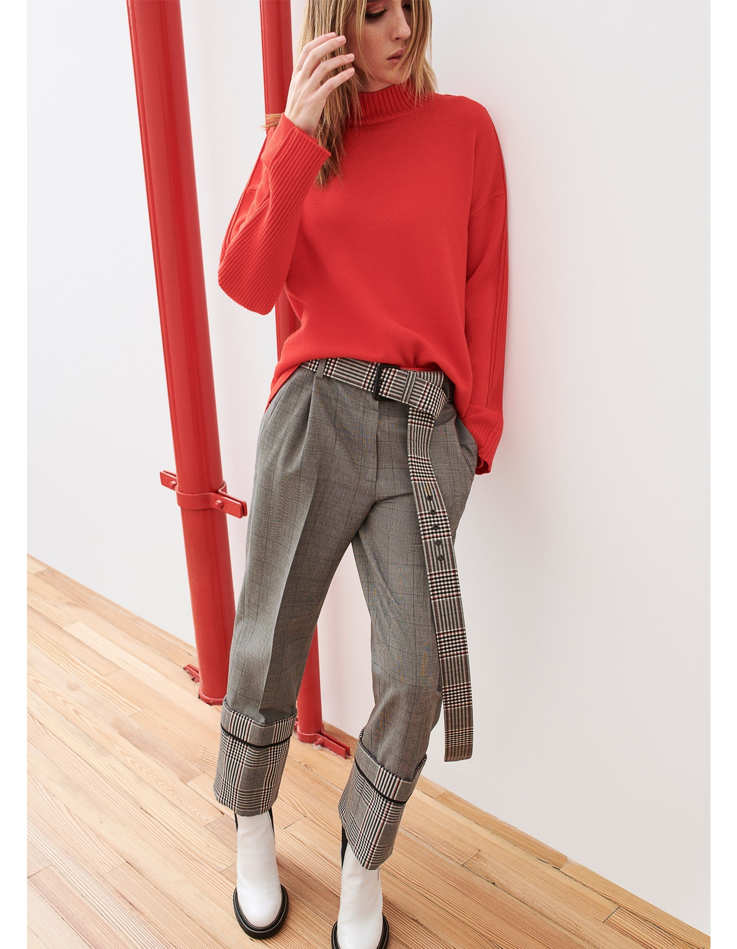 MONSE Oversized Cuff Trouser Flat Front