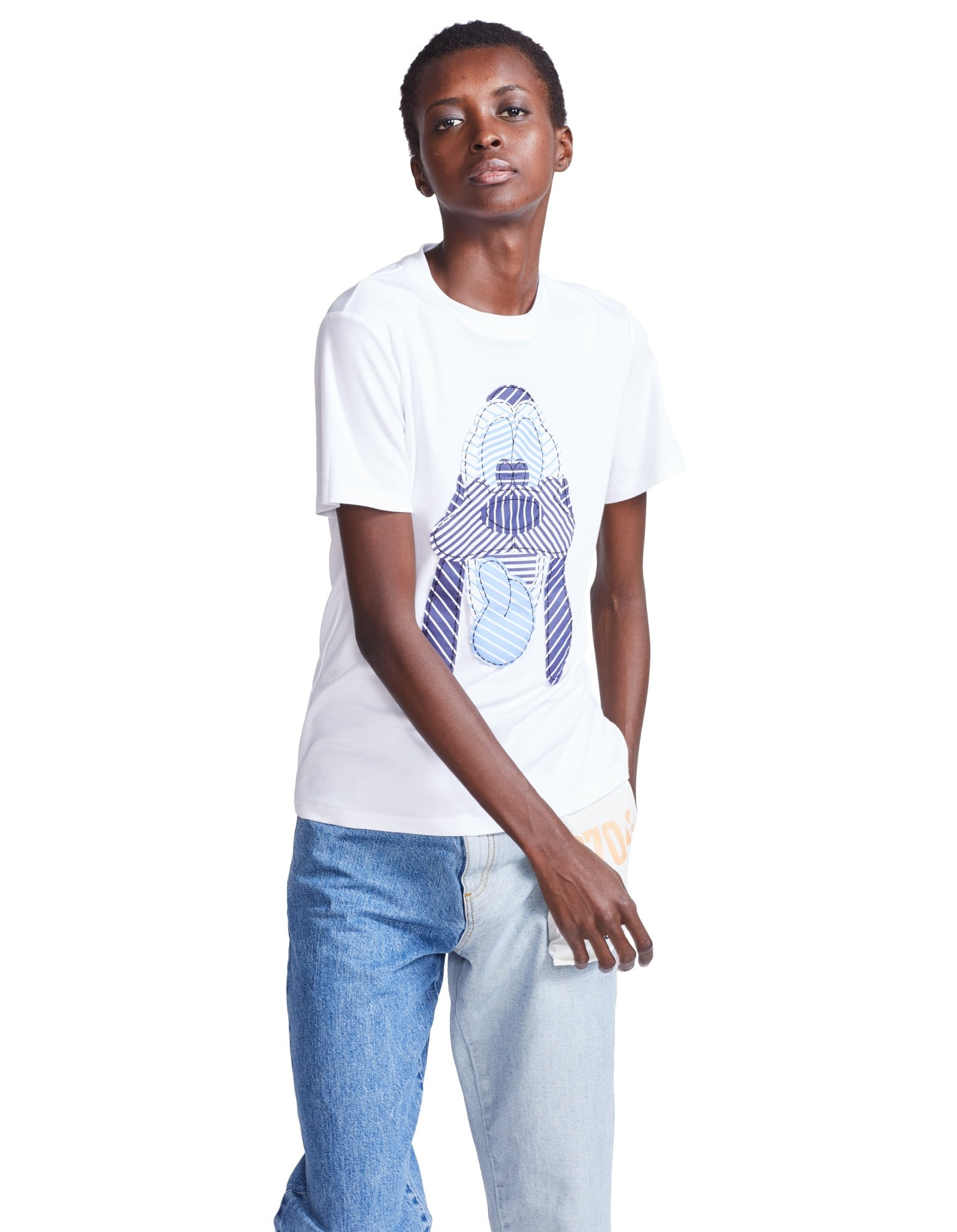 MONSE Pluto Embroidery Tee on Model Front