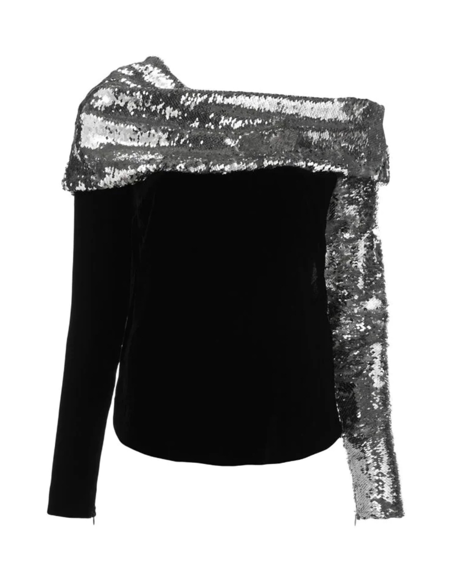 MONSE Sequin Embroidered Top on Model Front View