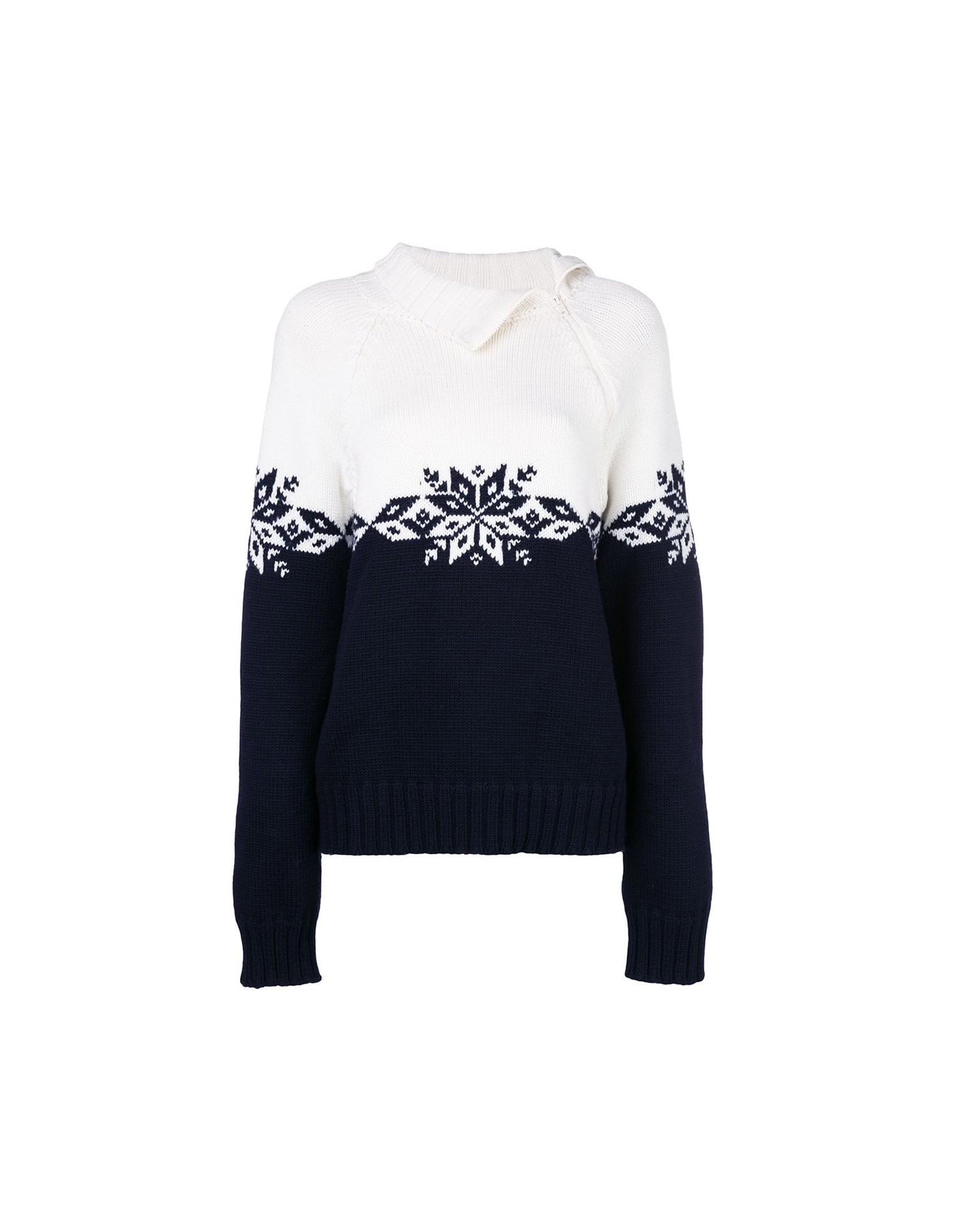 MONSE Snowflake Zip Turtleneck Flat Front
