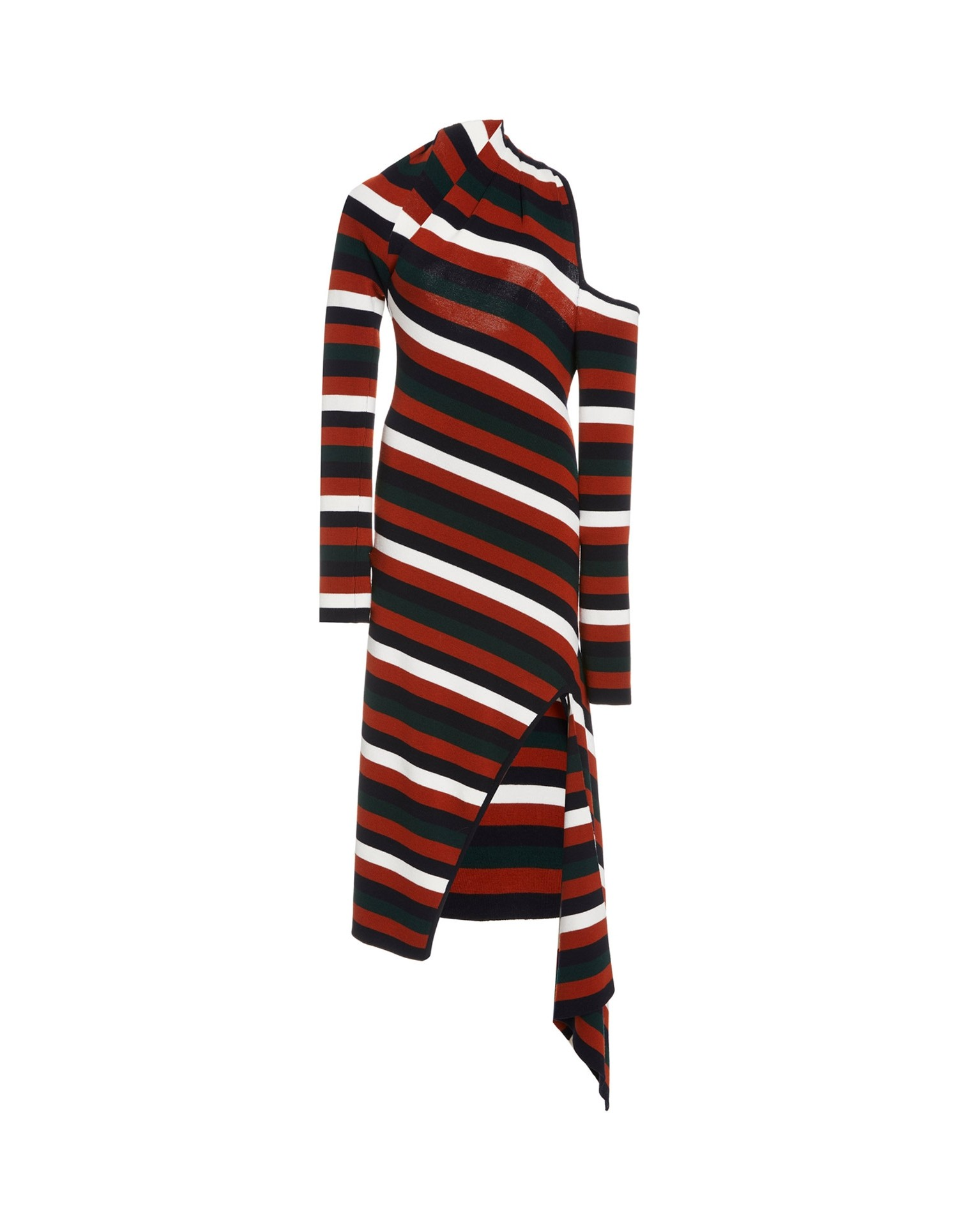 MONSE Stripe Slice Dress Flat Front