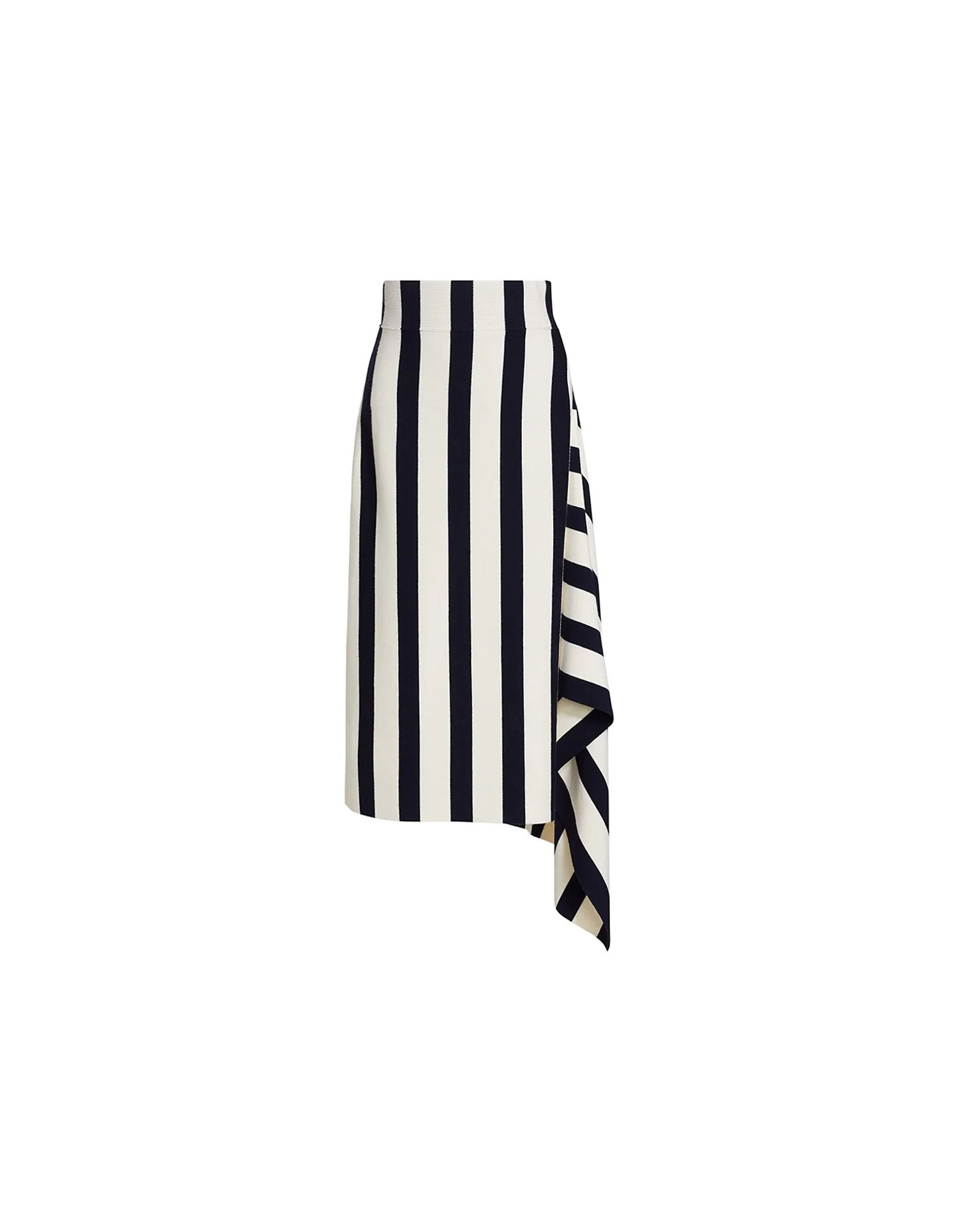 MONSE Striped Knit Skirt on Model Front View