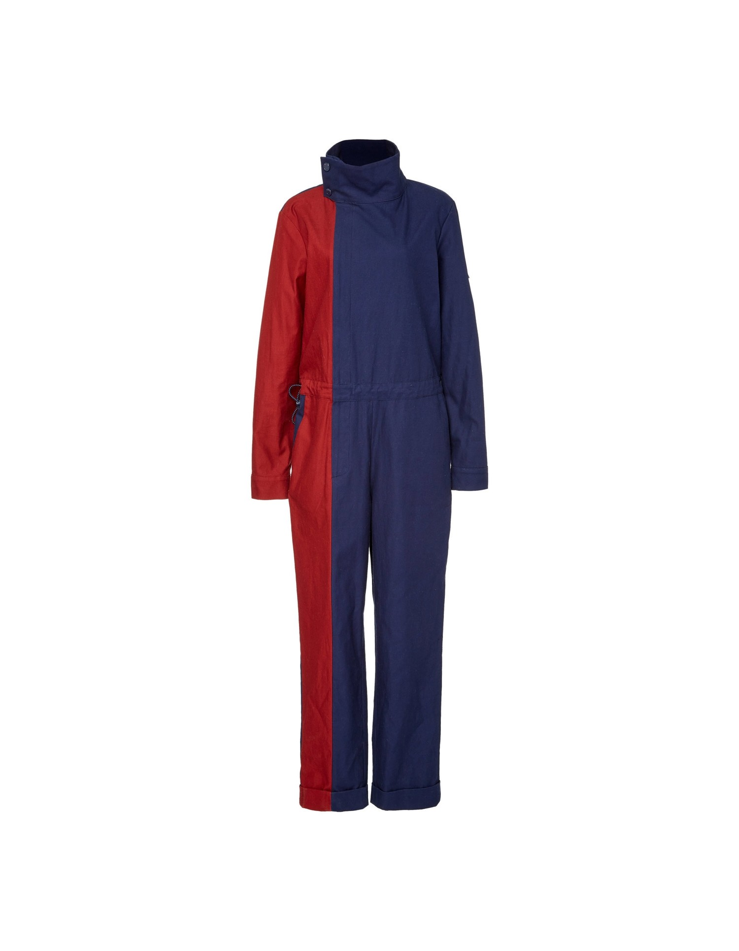 MONSE Two Tone Twill Jumpsuit Flat Front