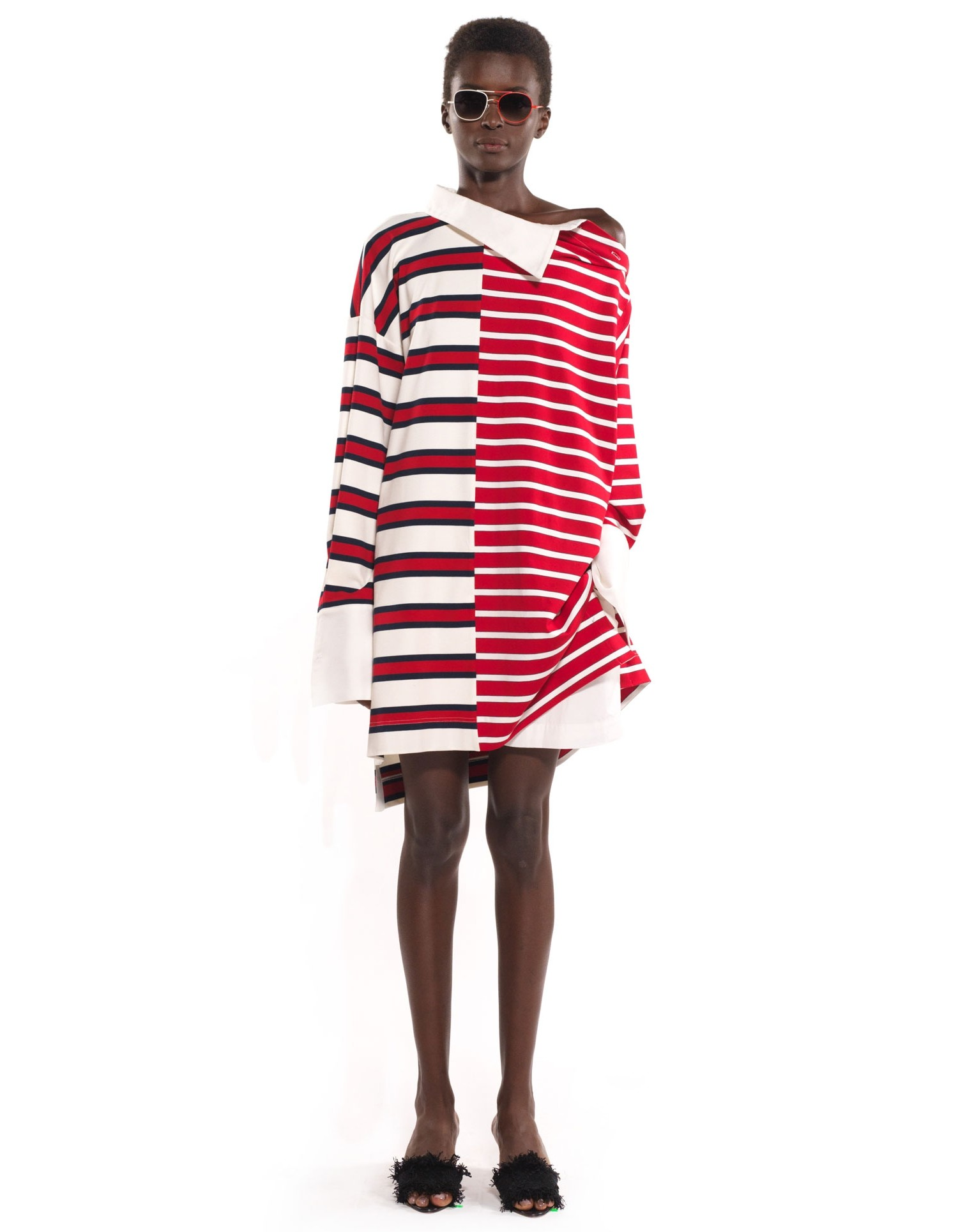 Striped Shifted Rugby Dress