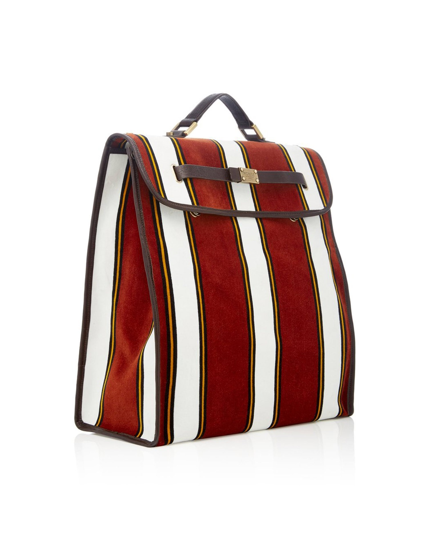 MONSE Velvet Briefcase Front View
