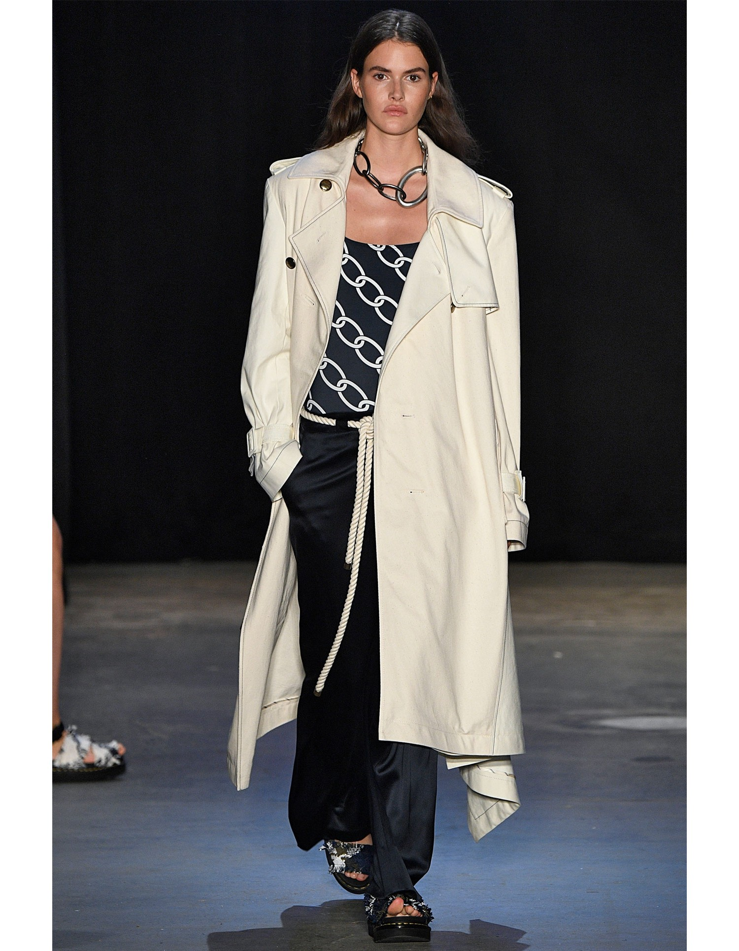MONSE Wide Leg Trouser on Model Runway Look