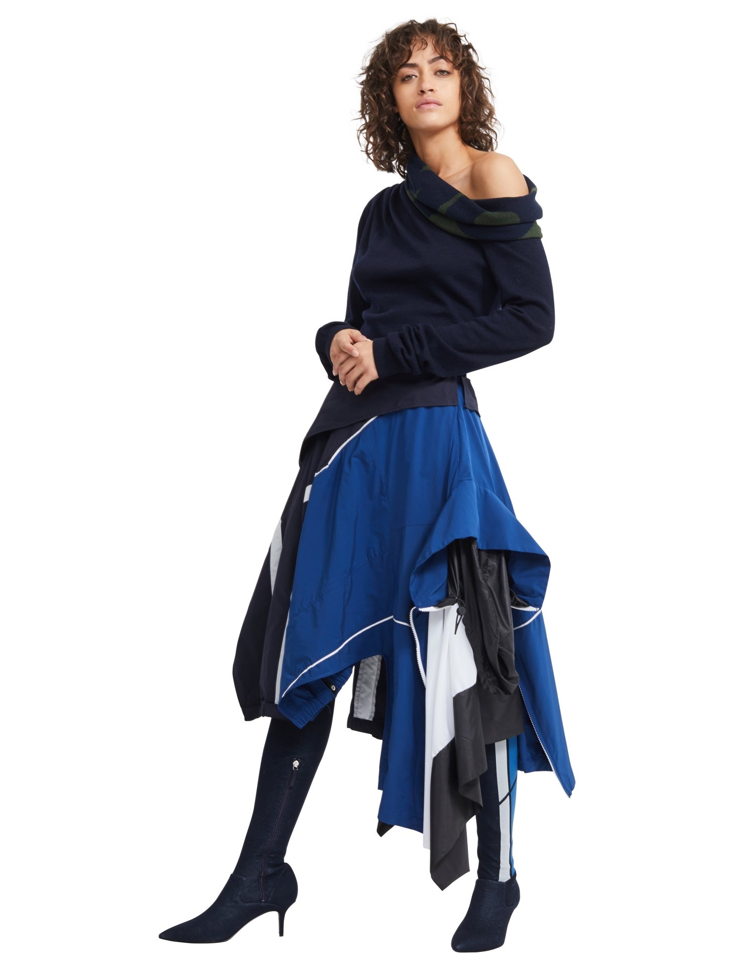 MONSE Windbreaker Skirt on Model Front View