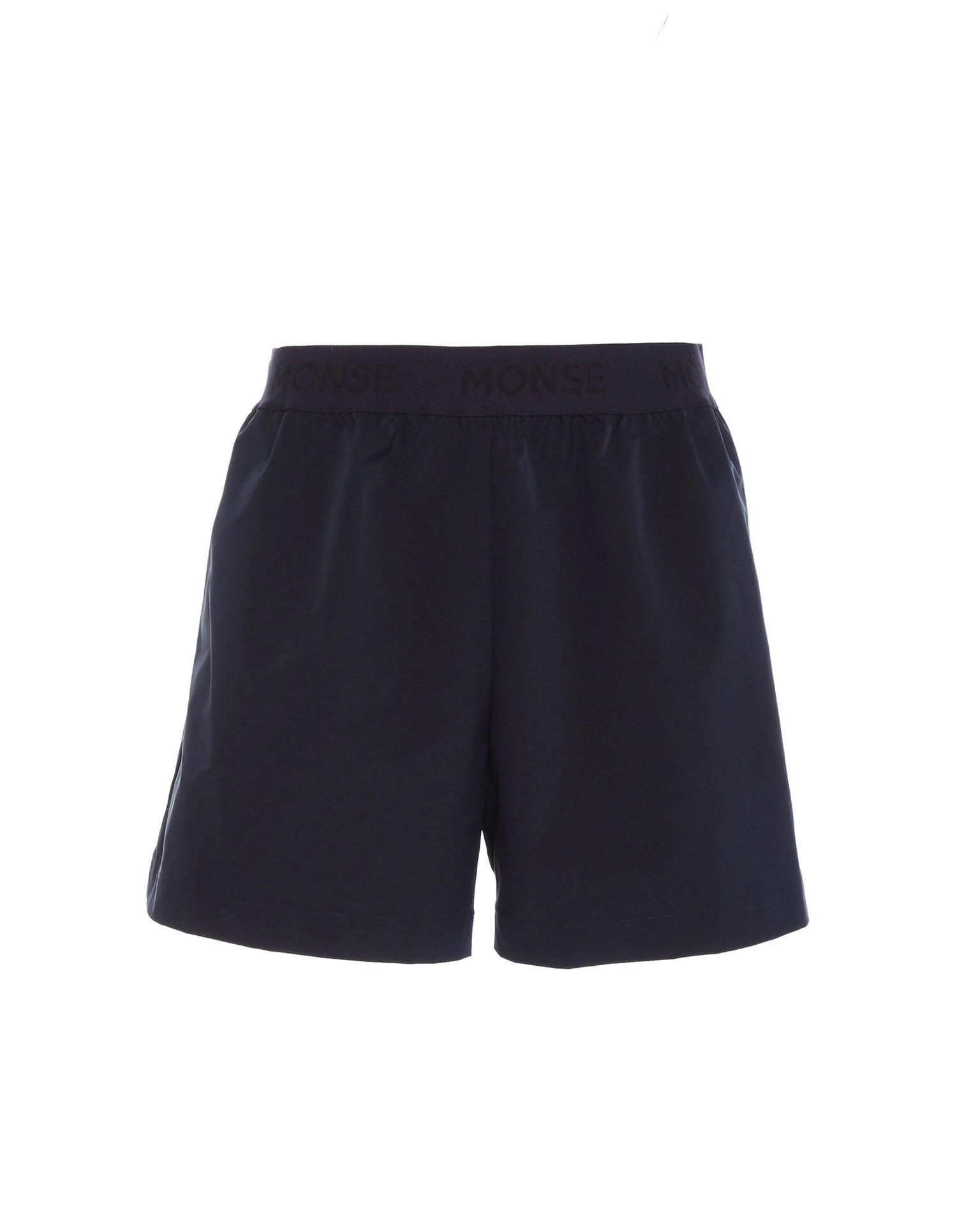 Monse Women's Jersey Shorts in Navy on Model Front