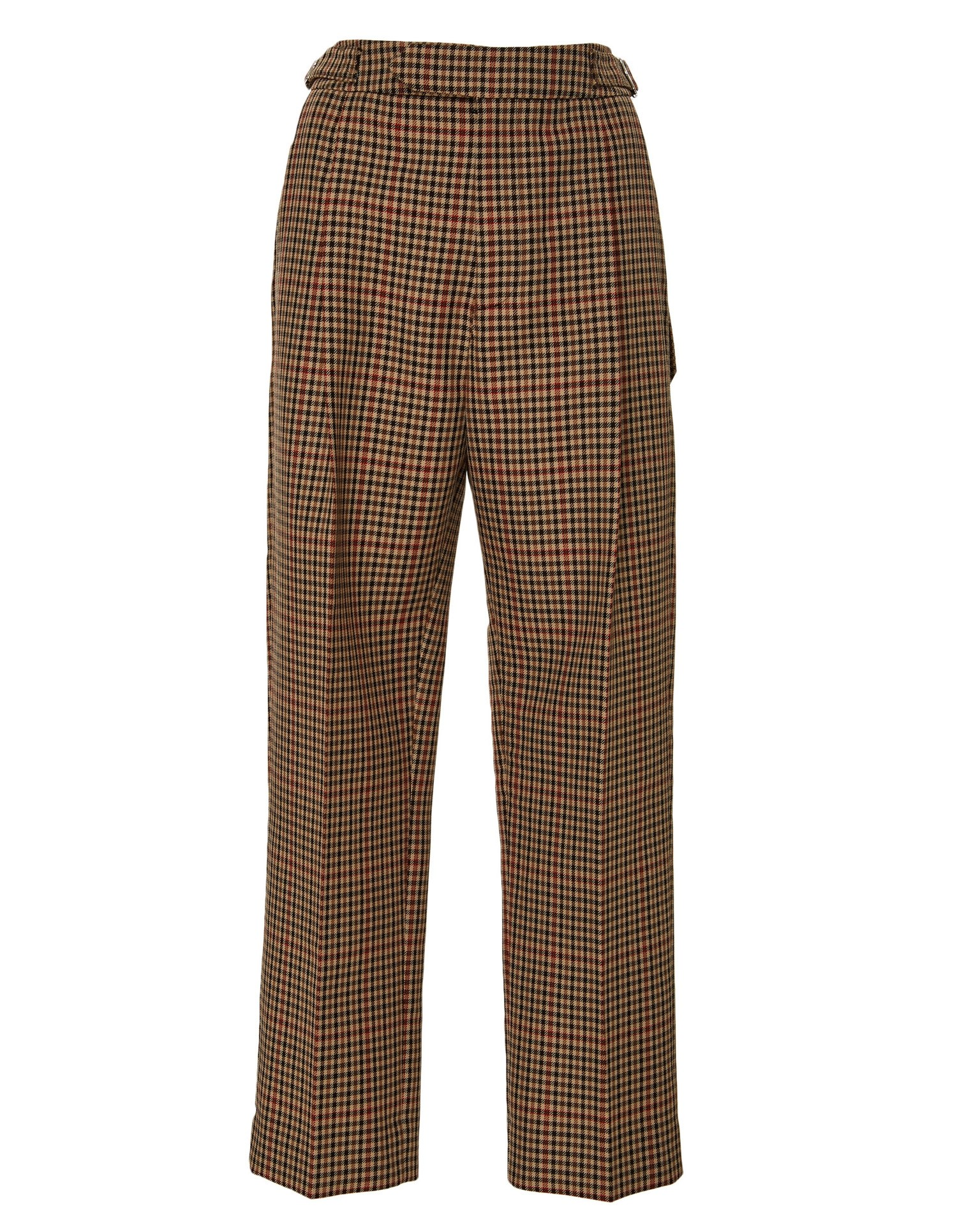 Pleated Trouser Brown Plaid