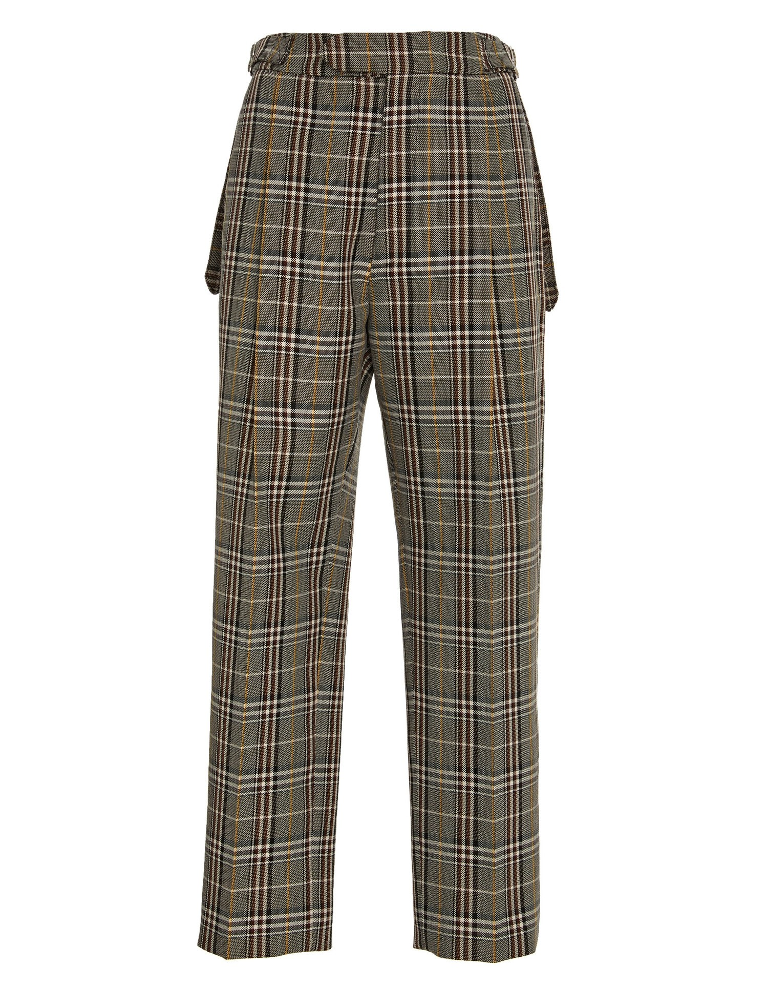 Pleated Trouser Charcoal Plaid