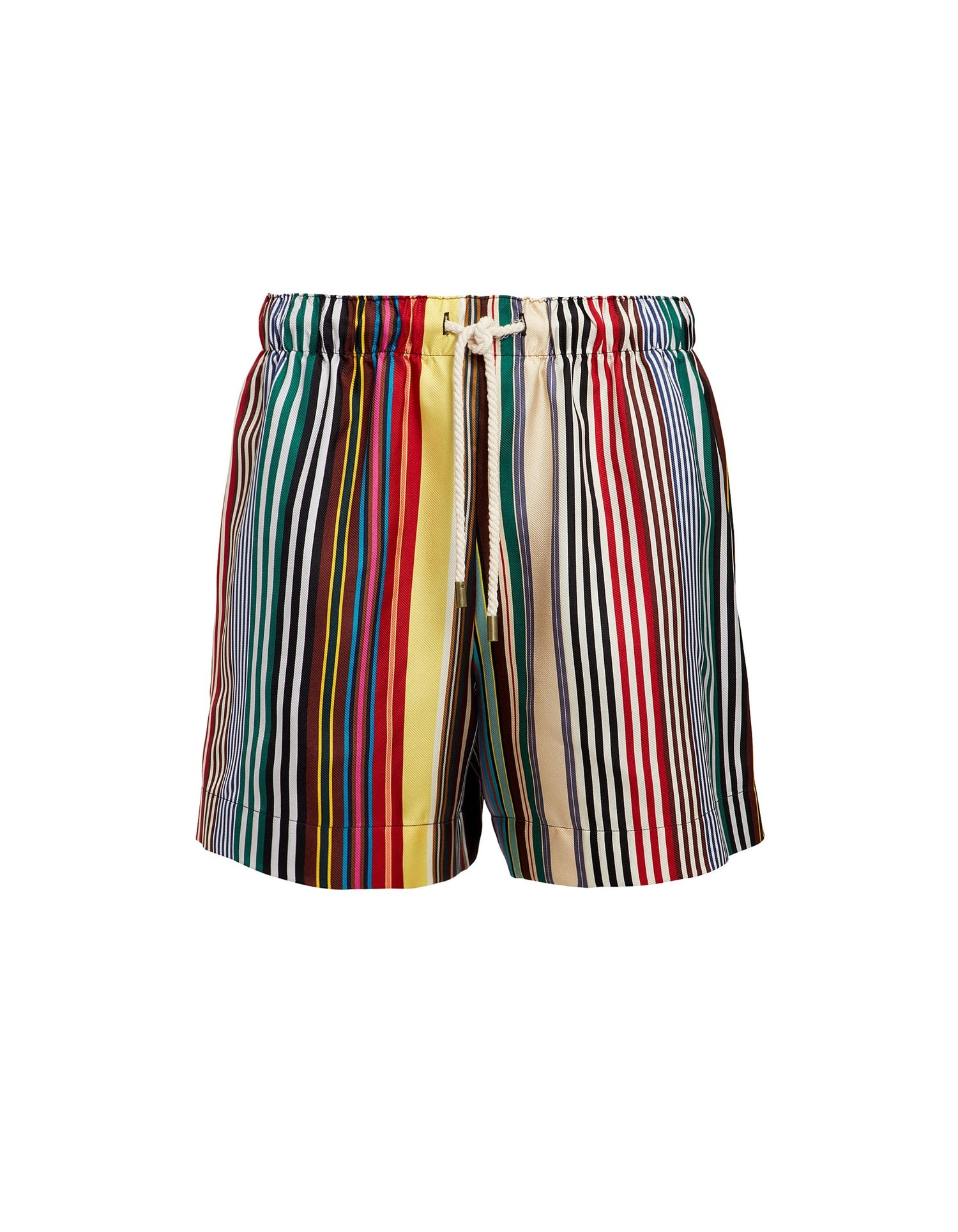 Monse Women's Rainbow Mid-Length Shorts on Model