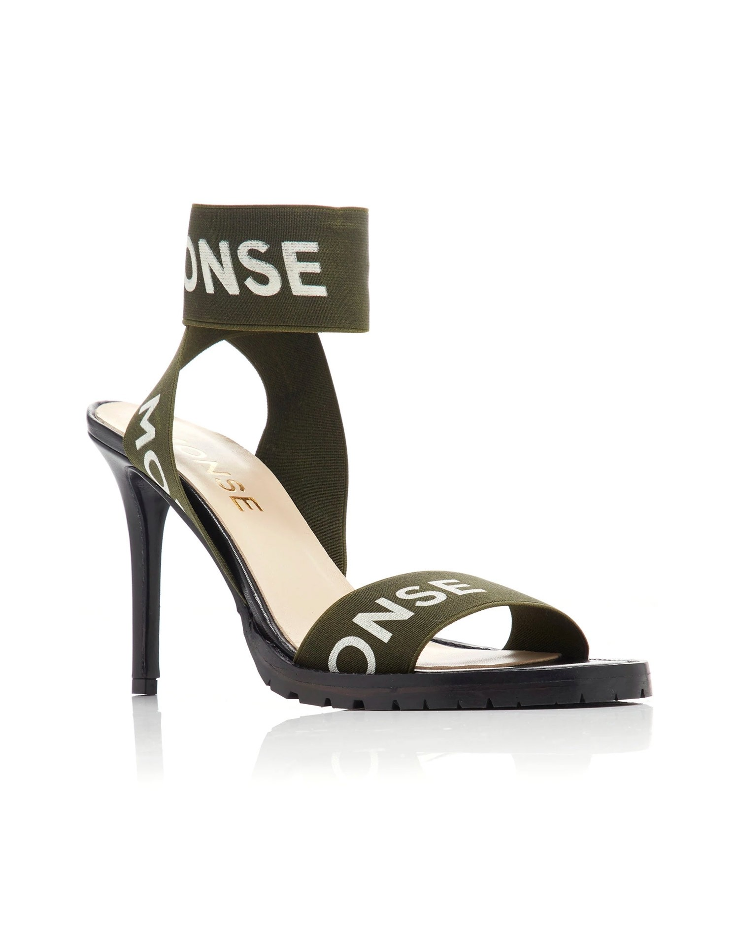 MONSE Stretch Strap Heel Olive