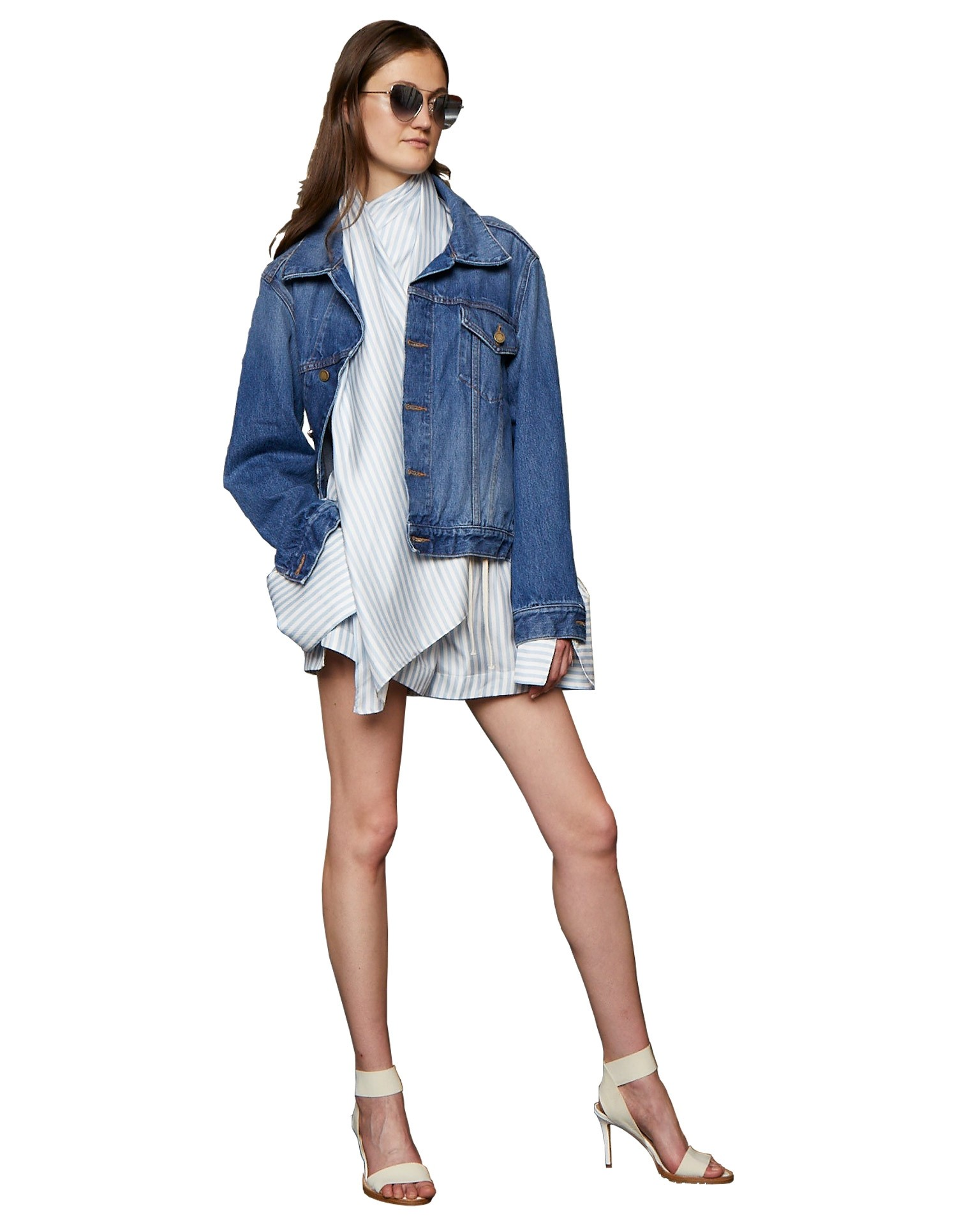 Twisted Denim Jacket