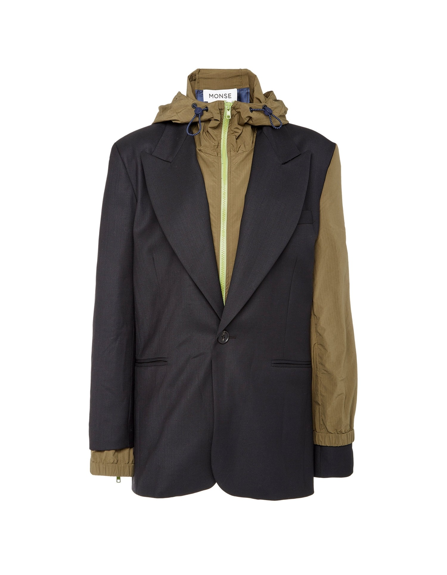 MONSE Wool & Nylon Double Blazer on Model Front View