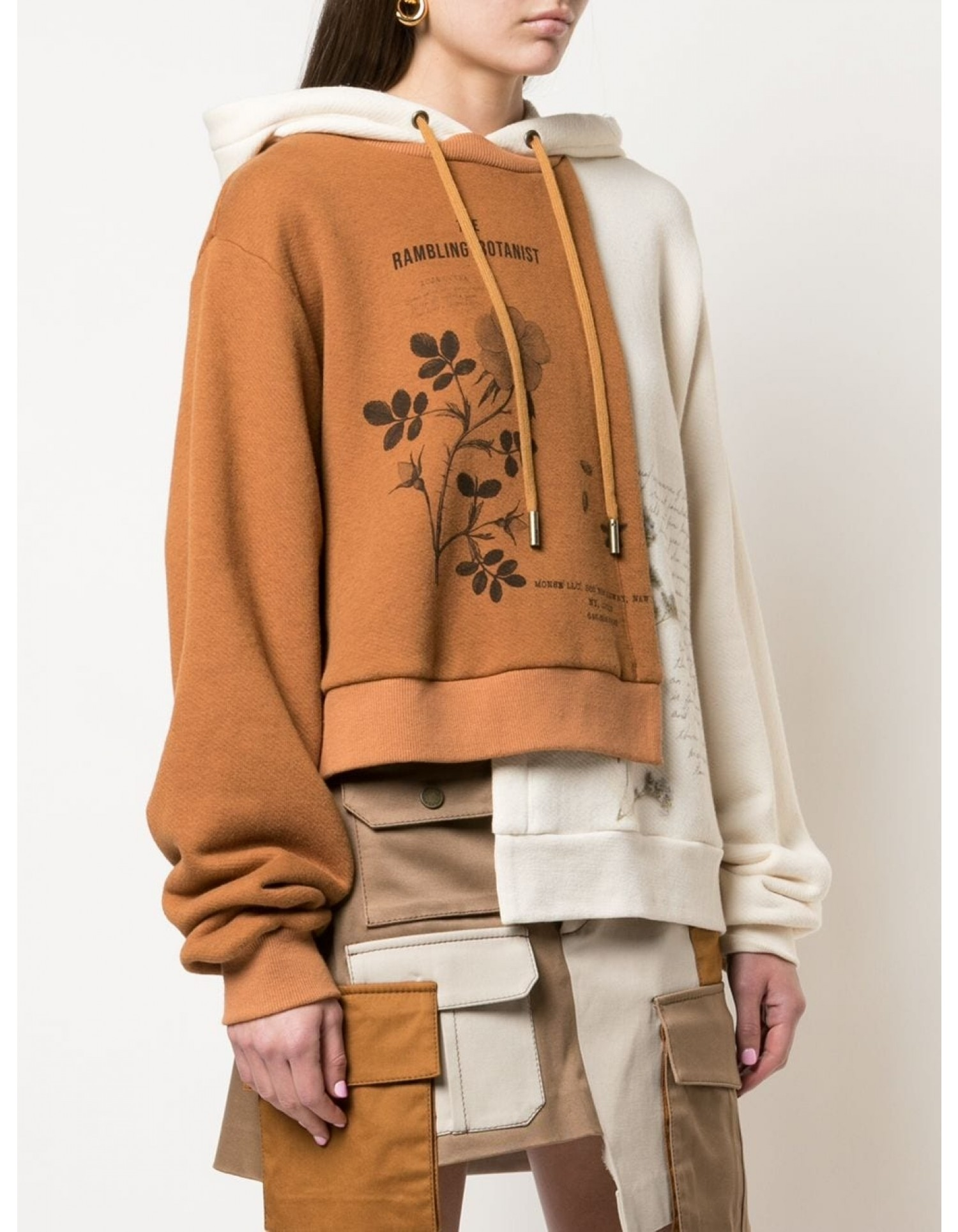 Bi Color Botanist Double Layer Hoodie