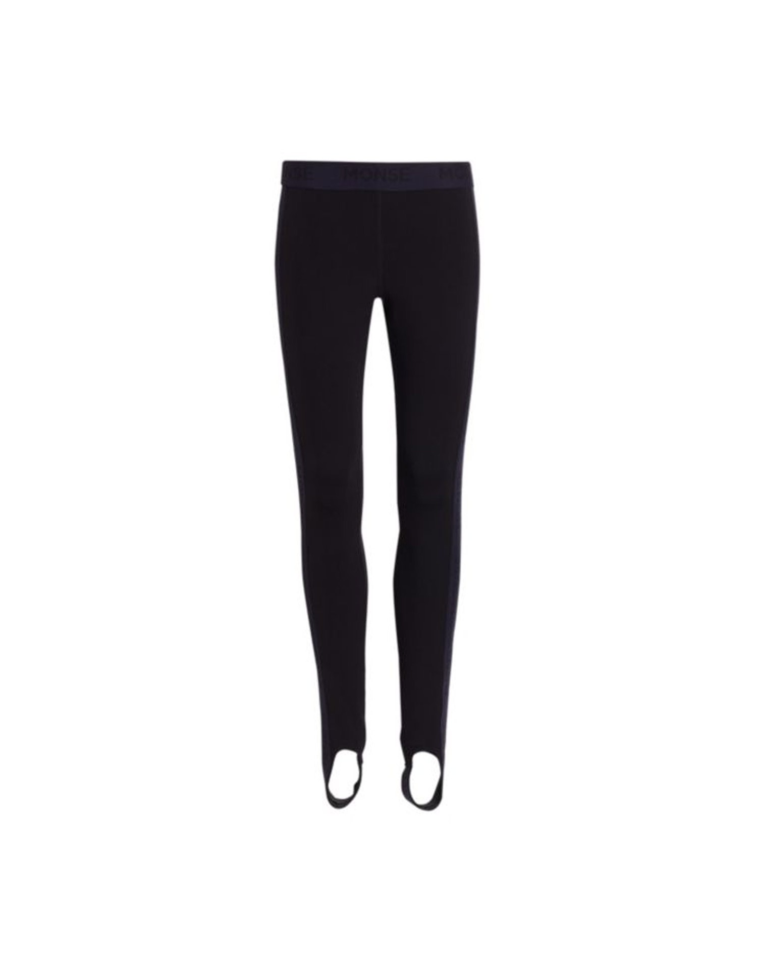 MONSE Stirrup Leggings in Black Flat Front