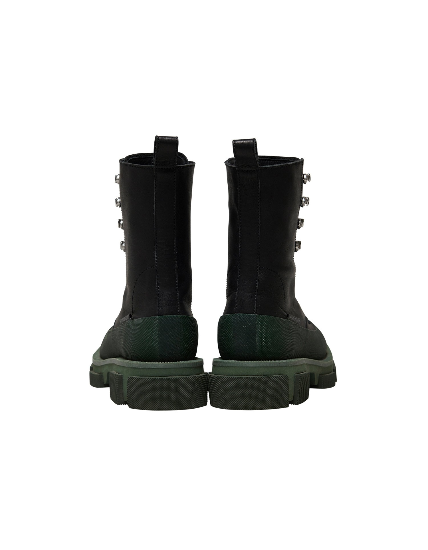 Both x MONSE Gao High Boots in Black and Olive Back View