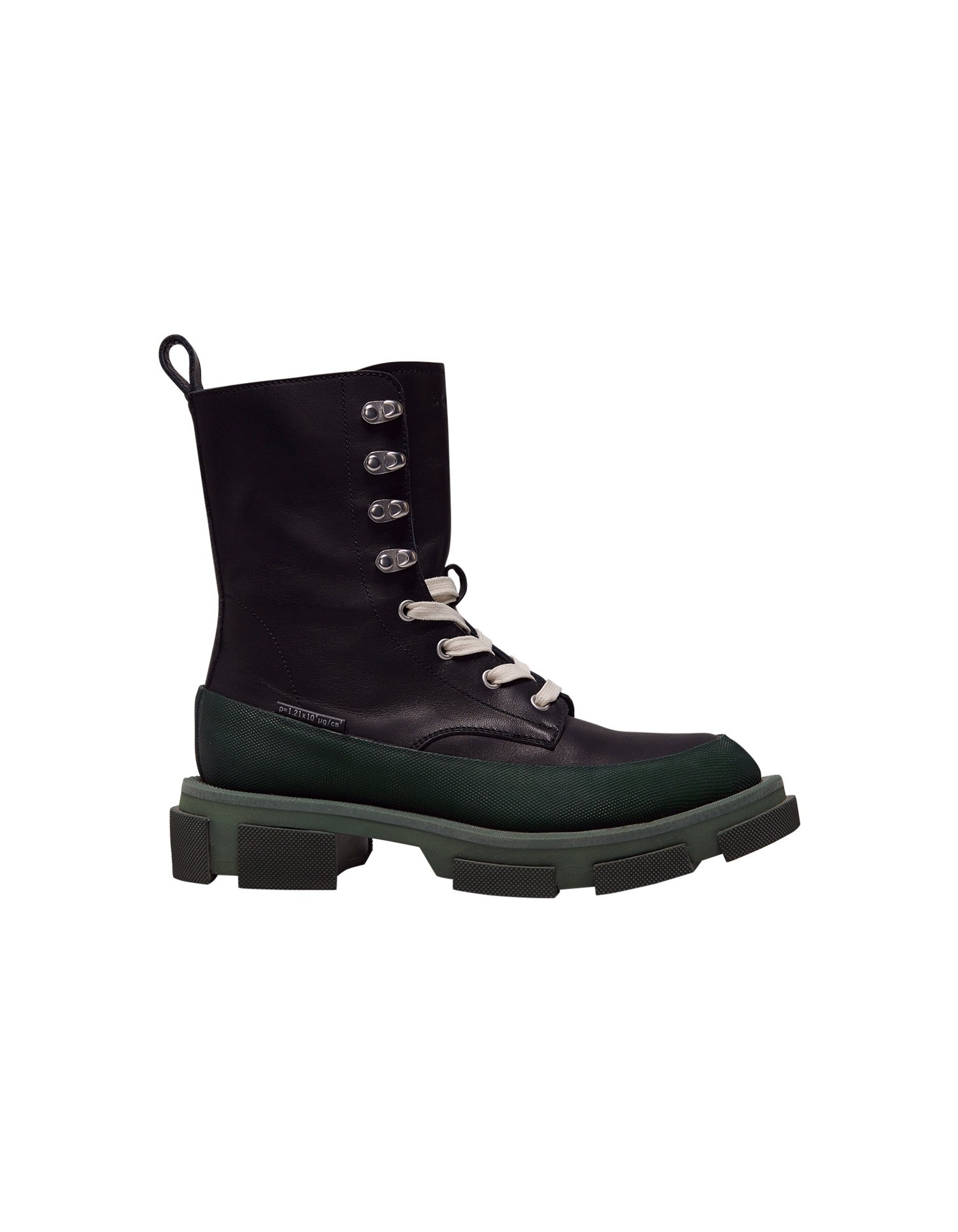 Both x MONSE Gao High Boots in Black and Olive Right Side View