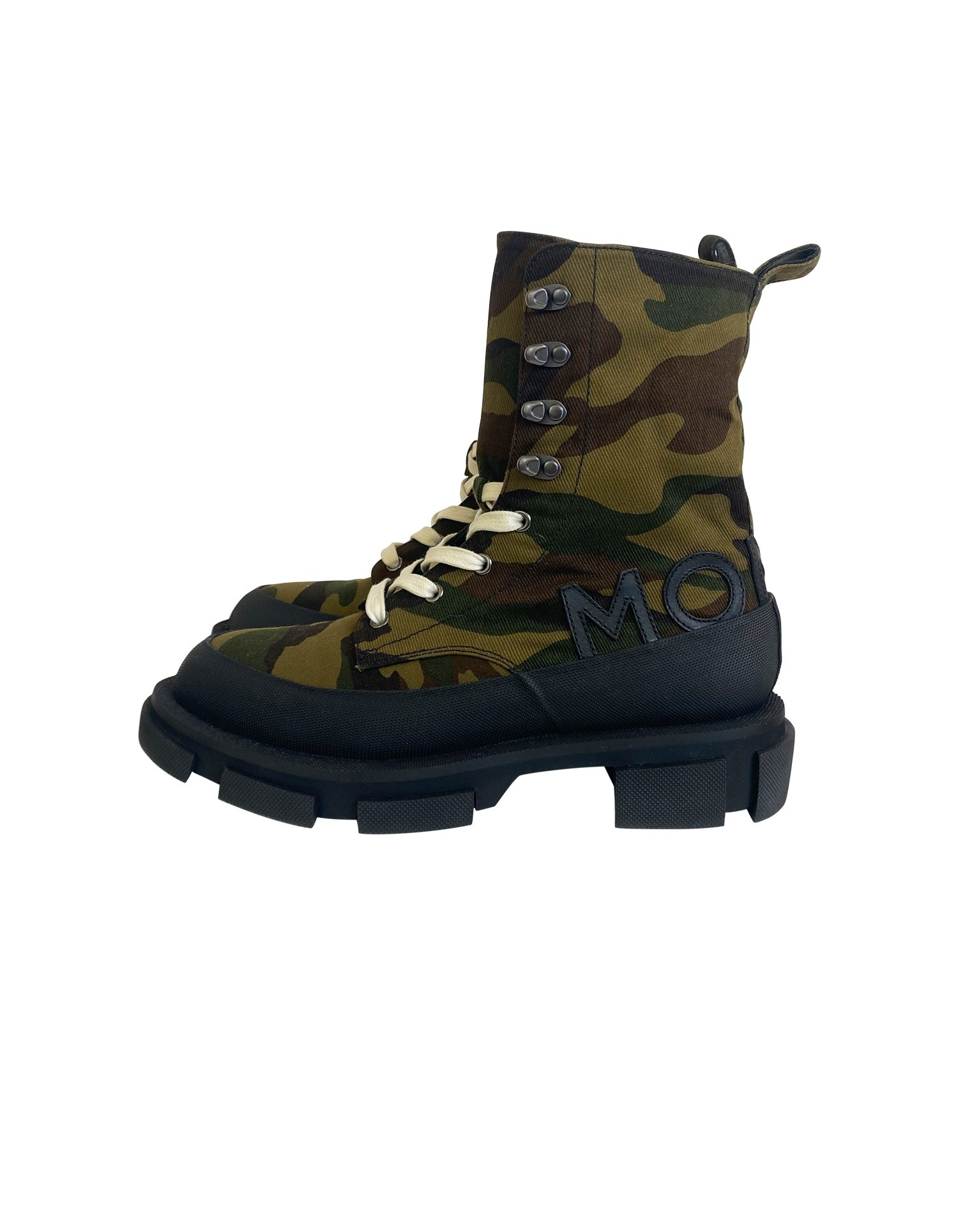 BOTH x MONSE Gao High Boots in Camo Print Side View