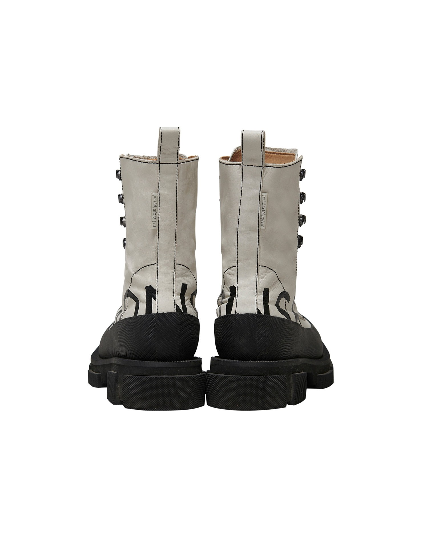 Both x MONSE Gao High Boots in White and Black Back View