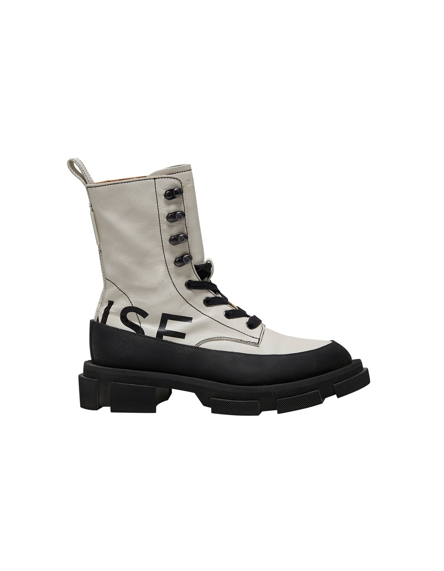 Both x MONSE Gao High Boots in White and Black Right Side View