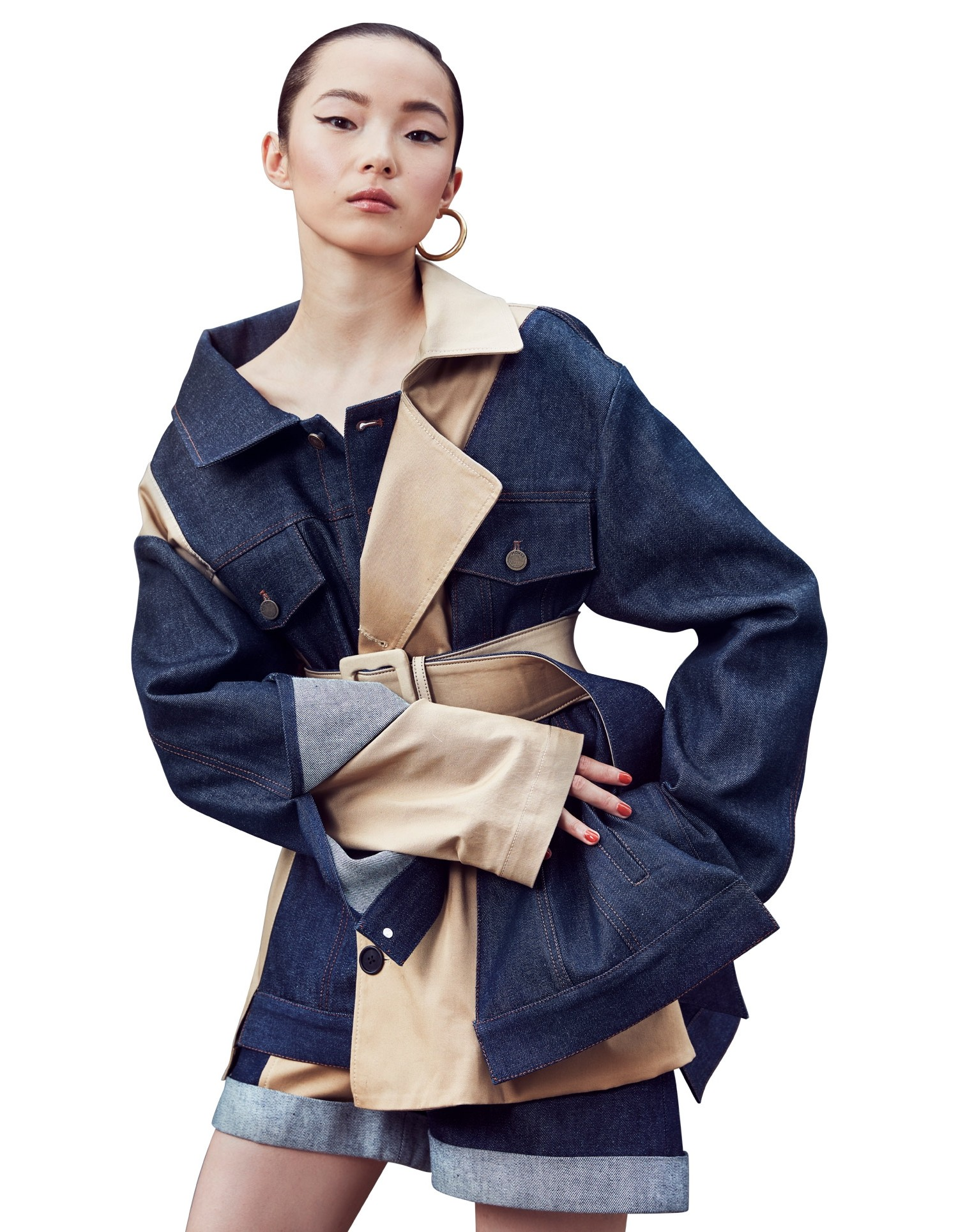 Belted Trench and Denim Jacket