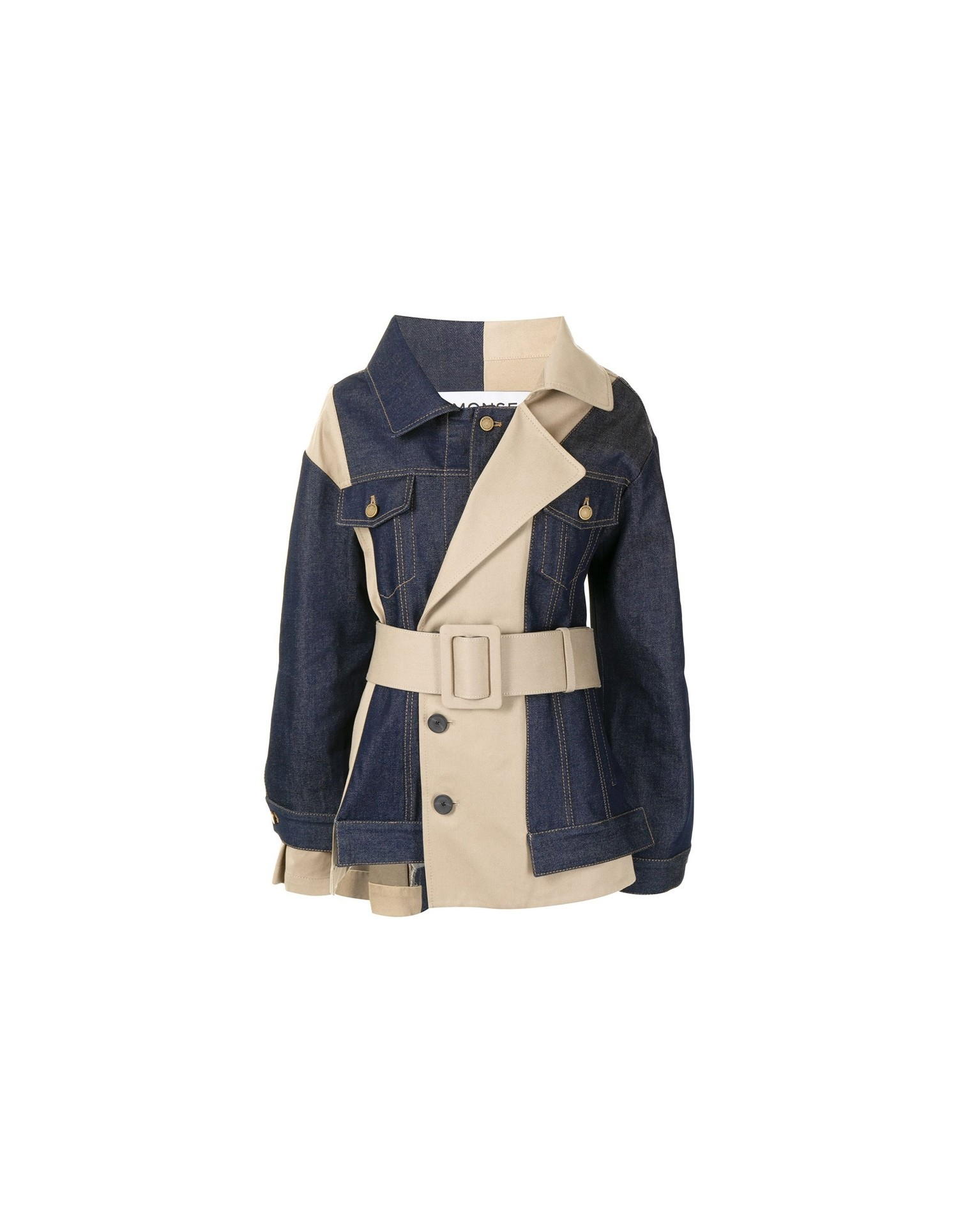 MONSE Belted Trench and Denim Jacket Flat Front