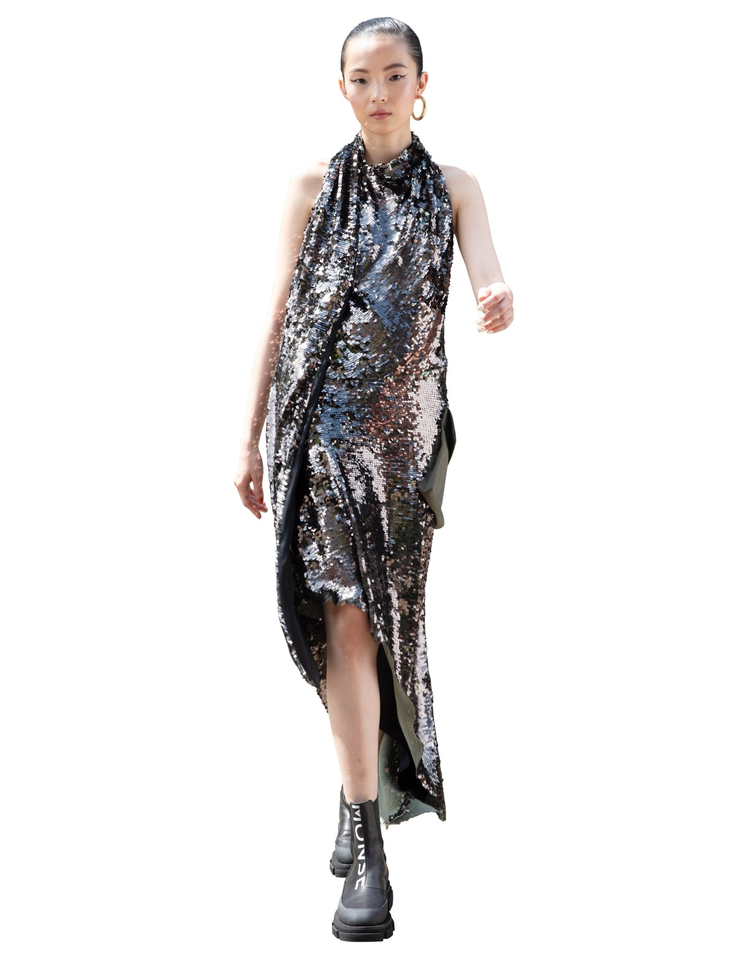 Cargo Sequin Gown