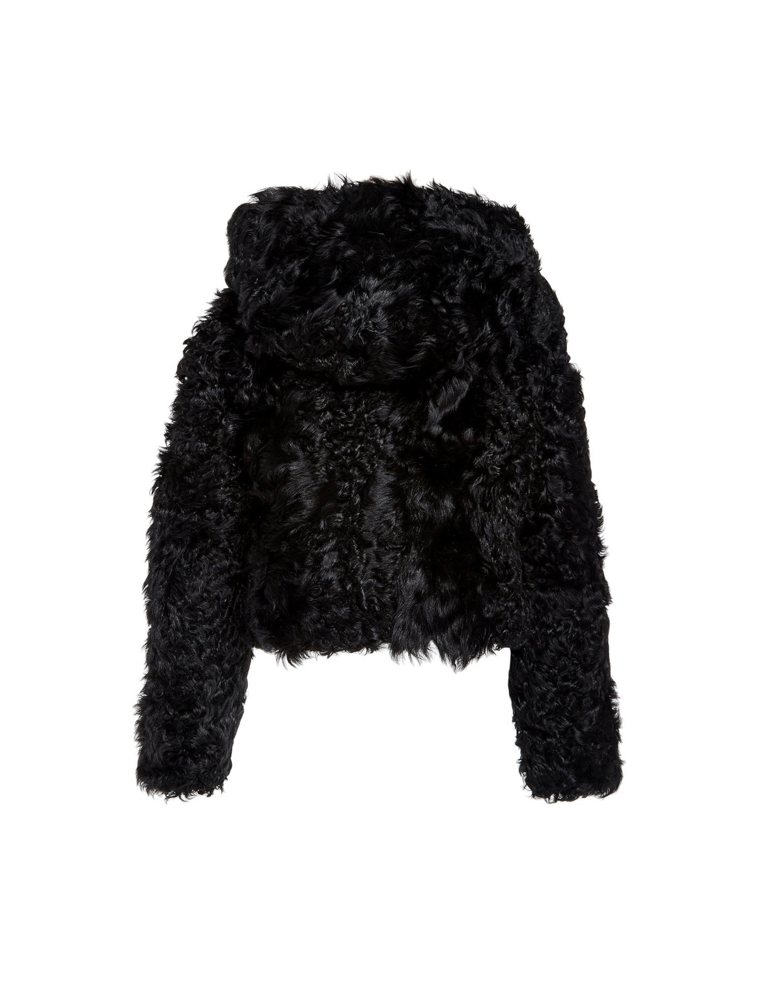 MONSE Cropped Shearling Hoodie Flat Back