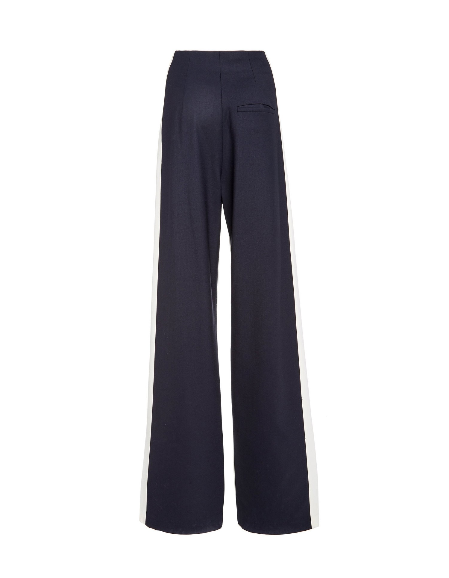 MONSE Double Stripe Gabardine Wool Pant Flat Back